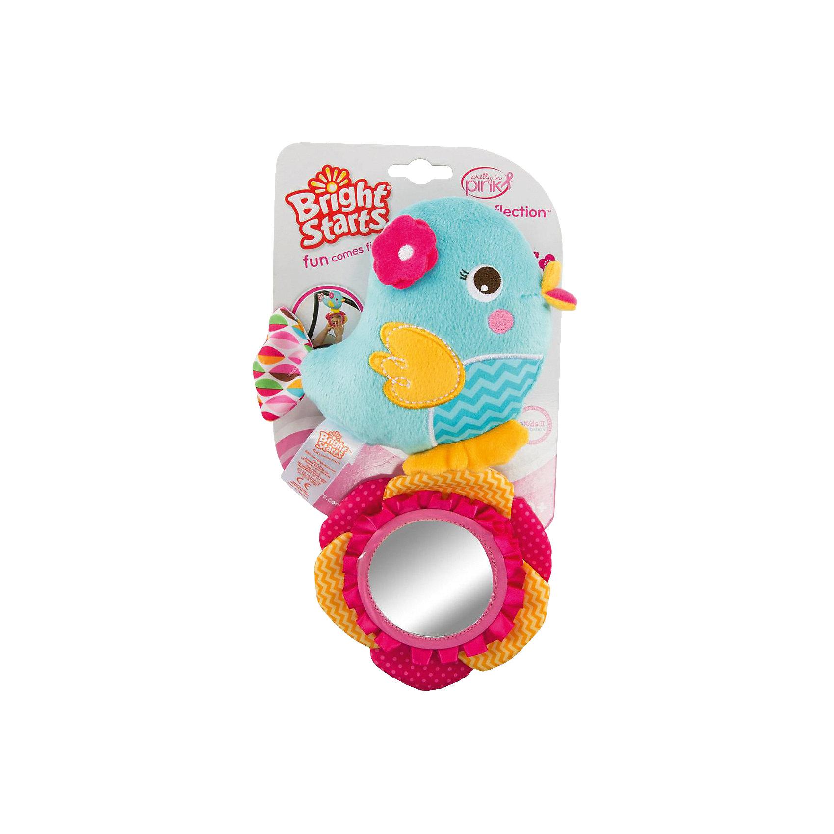Развиващая игрушка Птичка, Bright StartsРазвивающие игрушки<br>Характеристики развивающей игрушки Bright Starts:<br><br>• высота игрушки: 24 см;<br>• материал: текстиль;<br>• размер упаковки: 20x17x5 см;<br>• вес упаковки: 60 г.<br><br>Развивающая игрушка «Птичка» мягкая на ощупь, имеет безопасное зеркальце, крепится к коляске, кроватке или автокреслу. <br><br>Развивающую игрушку Птичка, Bright Starts можно купить в нашем интернет-магазине.<br><br>Ширина мм: 145<br>Глубина мм: 48<br>Высота мм: 244<br>Вес г: 91<br>Возраст от месяцев: 4<br>Возраст до месяцев: 36<br>Пол: Унисекс<br>Возраст: Детский<br>SKU: 4553888
