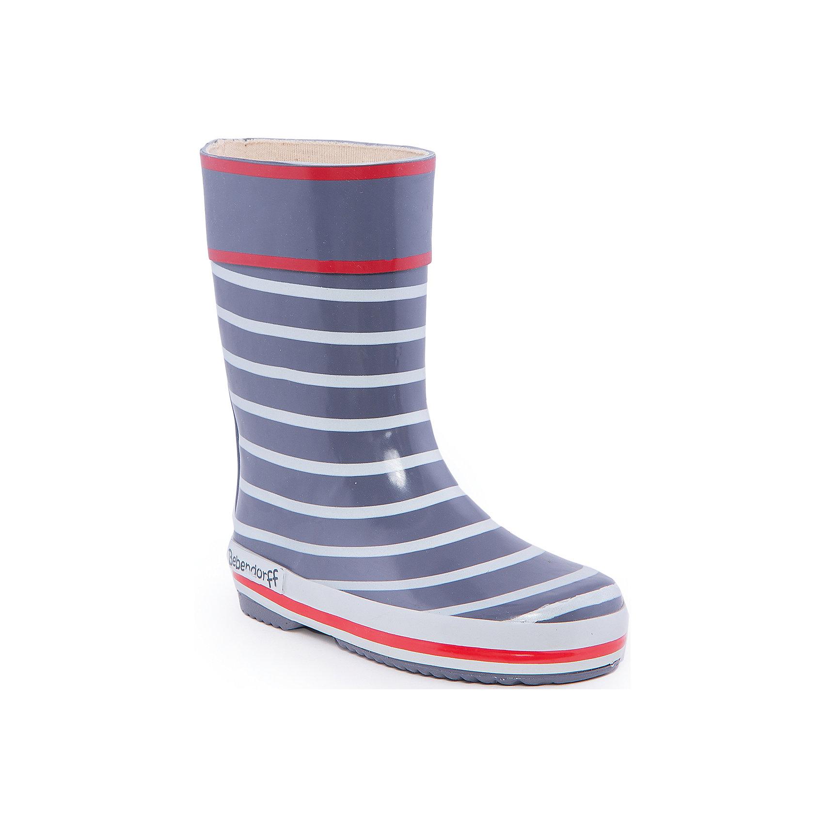 Резиновые сапоги для мальчика BebendorffРезиновые сапоги для мальчика от известного бренда Bebendorff<br><br>Модные прочные резиновые сапоги сделаны из качественной резины. Они позволят защитить ноги ребенка от сырости и обеспечат комфорт. Высокое голенище защитит одежду от грязи и влаги.<br><br>Отличительные особенности модели:<br><br>- цвет: серый;<br>- удобная форма;<br>- высокое голенище;<br>- качественные материалы;<br>- толстая устойчивая подошва;<br>- хлопковая подкладка;<br>- декорированы белыми и красными полосками;<br>- подошва рифленая.<br><br>Дополнительная информация:<br><br>Температурный режим: от + 5° С до + 20° С.<br><br>Состав:<br>верх - резина;<br>подкладка - хлопок;<br>стелька - хлопок;<br>подошва - резина.<br><br>Резиновые сапоги для мальчика Bebendorff (Бебендорф) можно купить в нашем магазине.<br><br>Ширина мм: 237<br>Глубина мм: 180<br>Высота мм: 152<br>Вес г: 438<br>Цвет: белый<br>Возраст от месяцев: 24<br>Возраст до месяцев: 36<br>Пол: Мужской<br>Возраст: Детский<br>Размер: 30,26,28,27,29,31,32,34,35,33<br>SKU: 4554641