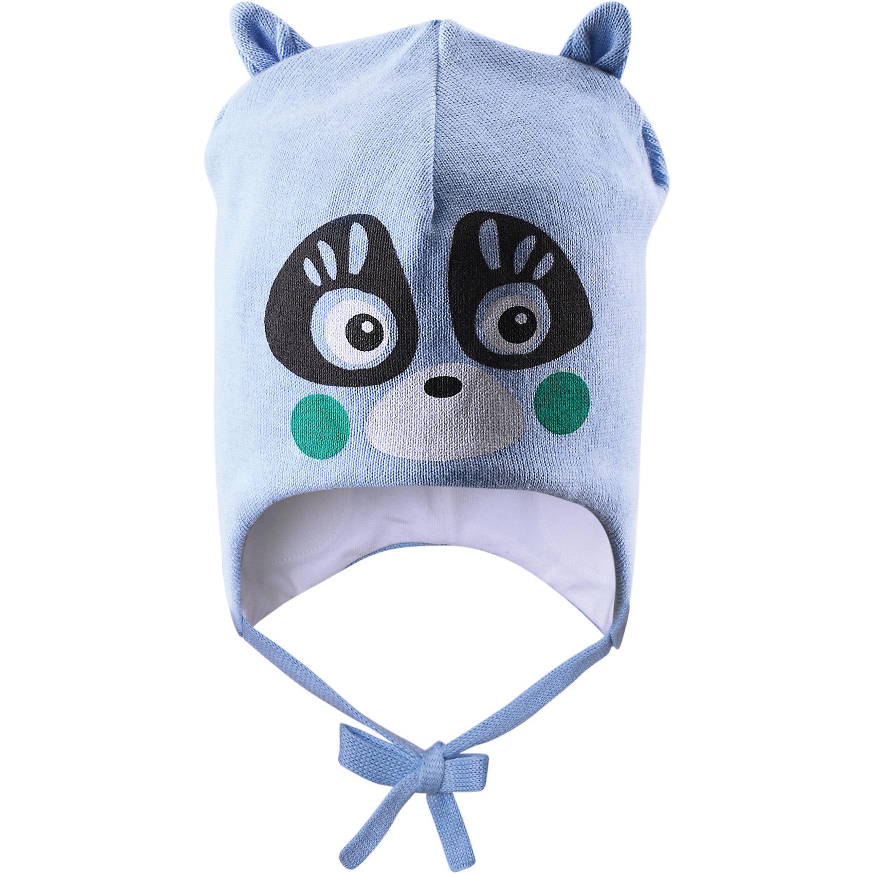 Шапка  LASSIE by ReimaШапка от известной компании LASSIE by Reima<br><br>Модная теплая шапка - отличная вещь для прогулок и активного отдыха. Она стильно смотрится и хорошо сидит.<br><br>Яркая расцветка оживляет дизайн изделия - такую вещь дети будут носить с удовольствием!<br><br>Особенности модели:<br><br>- цвет: голубой;<br>- приятный материал;<br>- натуральный хлопок;<br>- стильный дизайн;<br>- завязки;<br>- ветронепроницаемые вставки для защиты ушей;<br>- декорирована принтом и ушками;<br>- глубокая посадка.<br><br>Дополнительная информация:<br><br>Температурный режим: от -15° до +10° С<br><br>Состав: 100% хлопок<br><br>Шапку от известной компании LASSIE by Reima (Лэсси Рейма) можно купить в нашем магазине.<br><br>Ширина мм: 89<br>Глубина мм: 117<br>Высота мм: 44<br>Вес г: 155<br>Цвет: голубой<br>Возраст от месяцев: 6<br>Возраст до месяцев: 12<br>Пол: Унисекс<br>Возраст: Детский<br>Размер: 44-46,50-52,42-44,46-48<br>SKU: 4554922