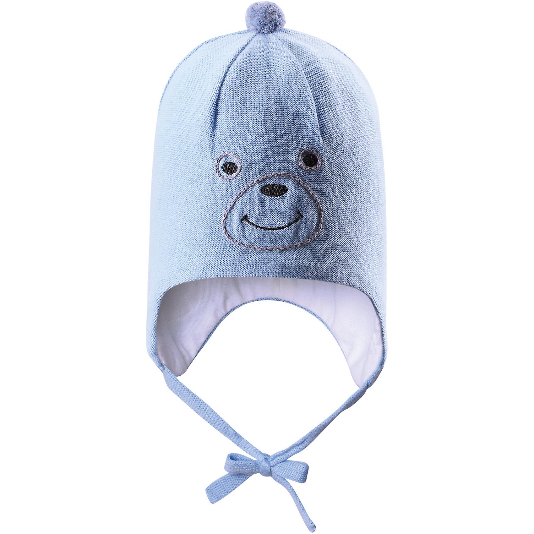 Шапка  LASSIEШапки и шарфы<br>Детская вязанная шапка с вязанным рисунком, ветронипроницаемые вставки в области ушей.<br>Состав:<br>100% Хлопок<br><br>Ширина мм: 89<br>Глубина мм: 117<br>Высота мм: 44<br>Вес г: 155<br>Цвет: голубой<br>Возраст от месяцев: 6<br>Возраст до месяцев: 12<br>Пол: Унисекс<br>Возраст: Детский<br>Размер: 44-46,50-52,46-48<br>SKU: 4554942