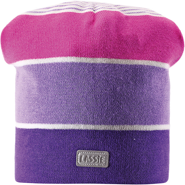 Шапка для девочки LASSIEШапки и шарфы<br>Шапка для девочки от известной компании LASSIE<br><br>Модная теплая шапка - отличная вещь для прогулок и активного отдыха. Она стильно смотрится и хорошо сидит.<br><br>Яркая расцветка оживляет дизайн изделия - такую вещь дети будут носить с удовольствием!<br><br>Особенности модели:<br><br>- цвет: сиреневый;<br>- декорирована светоотражающей нашивкой;<br>- приятный материал;<br>- натуральный хлопок;<br>- стильный дизайн;<br>- ветронепроницаемые вставки для защиты ушей;<br>- глубокая посадка.<br><br>Дополнительная информация:<br><br>Температурный режим: от -15° до +10° С<br><br>Состав: 100% хлопок<br><br>Шапку для девочки от известной компании LASSIE (Лэсси Рейма) можно купить в нашем магазине.<br><br>Ширина мм: 89<br>Глубина мм: 117<br>Высота мм: 44<br>Вес г: 155<br>Цвет: белый<br>Возраст от месяцев: 12<br>Возраст до месяцев: 24<br>Пол: Женский<br>Возраст: Детский<br>Размер: 46-48,50-52,54-56<br>SKU: 4555398
