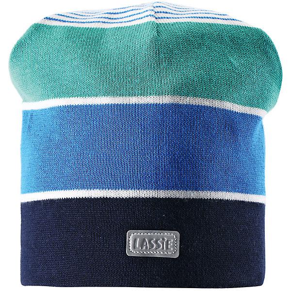 Шапка для мальчика LASSIE by ReimaШапки и шарфы<br>Шапка для мальчика от известной компании LASSIE by Reima<br><br>Модная теплая шапка - отличная вещь для прогулок и активного отдыха. Она стильно смотрится и хорошо сидит.<br><br>Вязаный рисунок оживляет дизайн изделия - такую вещь дети будут носить с удовольствием!<br><br>Особенности модели:<br><br>- цвет: синий;<br>- светоотражающая нашивка;<br>- эластичный материал;<br>- натуральный хлопок;<br>- стильный дизайн;<br>- глубокая посадка.<br><br>Дополнительная информация:<br><br>Температурный режим: от -15° до +10° С<br><br>Состав: 100% хлопок<br><br>Шапку для мальчика от известной компании LASSIE by Reima (Лэсси Рейма) можно купить в нашем магазине.<br>Ширина мм: 89; Глубина мм: 117; Высота мм: 44; Вес г: 155; Цвет: белый; Возраст от месяцев: 12; Возраст до месяцев: 24; Пол: Мужской; Возраст: Детский; Размер: 46-48,54-56,50-52; SKU: 4555402;
