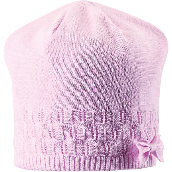 Шапка для девочки LASSIE by ReimaШапки и шарфы<br>Шапка для девочки от известной компании LASSIE by Reima<br><br>Модная теплая шапка - отличная вещь для прогулок и активного отдыха. Она стильно смотрится и хорошо сидит.<br>Оригинальная форма оживляет дизайн изделия - такую вещь дети будут носить с удовольствием!<br><br>Особенности модели:<br><br>- цвет: розовый;<br>- приятный материал;<br>- натуральный хлопок;<br>- стильный дизайн;<br>- декорирована бантом;<br>- ветронепроницаемые вставки для защиты ушей;<br>- фактурная вязка;<br>- глубокая посадка.<br><br>Дополнительная информация:<br><br>Температурный режим: от -10° до +10° С<br><br>Состав: 100% хлопок<br><br>Шапку для девочки от известной компании LASSIE by Reima (Лэсси Рейма) можно купить в нашем магазине.<br><br>Ширина мм: 89<br>Глубина мм: 117<br>Высота мм: 44<br>Вес г: 155<br>Цвет: розовый<br>Возраст от месяцев: 36<br>Возраст до месяцев: 60<br>Пол: Женский<br>Возраст: Детский<br>Размер: 50-52,54-56,46-48<br>SKU: 4555428