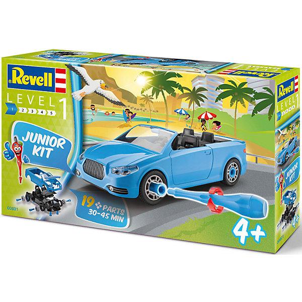 Сборная модель для малышей КабриолетАвтомобили<br>Характеристики товара:<br><br>• возраст: от 4 лет;<br>• цвет:голубой;<br>• масштаб: 1:20;<br>• количество деталей: 19 шт;<br>• количество соединительных элементов: 24 шт;<br>• материал: пластик; <br>• клей и краски в комплект не входят;<br>• длина модели: 24 см;<br>• бренд, страна бренда: Revell (Ревел),Германия;<br>• страна-изготовитель: Польша.<br><br>Сборная модель для малышей «Кабриолет» поможет вам и вашему ребенку придумать увлекательное занятие на долгое время. Модель имеет интересный дизайн и очень хорошо детализирована.<br><br>Клеить детали не нужно, они стыкуются при помощи специальных элементов. Они легко вкручиваются при помощи пластиковой отвертки, которая входит в набор. Колеса машинки вращаются. Двери и капот открываются. Все детали выполнены из прочного пластика. Сборка модели поможет развить мелкую моторику рук, познакомит с техническим творчеством и обучит ребенка работе с простейшими инструментами. <br><br>Собранная модель может послужить мальчику интересной игрушкой. Кроме того, ребенок может разобрать автомобиль и попробовать собрать его снова за более короткий промежуток времени.<br><br>Сборка модели поможет развить мелкую моторику рук, познакомит с техническим творчеством и обучит ребенка работе с простейшими инструментами. <br><br>Сборную модель для малышей «Кабриолет», 19 дет., Revell (Ревел) можно купить в нашем интернет-магазине.<br><br>Ширина мм: 356<br>Глубина мм: 215<br>Высота мм: 73<br>Вес г: 404<br>Возраст от месяцев: 48<br>Возраст до месяцев: 84<br>Пол: Мужской<br>Возраст: Детский<br>SKU: 4555753