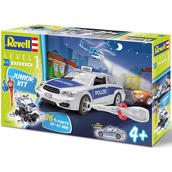 Сборная модель для малышей Полицейская машинаАвтомобили<br>Характеристики товара:<br><br>• возраст: от 4 лет;<br>• цвет: белый;<br>• масштаб: 1:20;<br>• количество деталей: 26 шт;<br>• количество соединительных элементов: 24 шт;<br>• материал: пластик;<br>• клей и краски в комплект не входят;<br>• длина модели: 23,5 см;<br>• бренд, страна бренда: Revell (Ревел),Германия;<br>• страна-изготовитель: Польша.<br><br>Сборная модель для малышей «Полицейская машина» поможет вам и вашему ребенку придумать увлекательное занятие на долгое время. Модель имеет интересный дизайн и очень хорошо детализирована.<br><br>В набор входят 26 деталей, 24 соединительных элемента, наклейки для корпуса модели, а также отвертка, при помощи которой ребенок сможет собрать и разобрать машинку. Все детали машинки уже окрашены, а наклейки позволят достичь большей реалистичности.<br><br>Собранная модель может послужить мальчику интересной игрушкой. Кроме того, ребенок может разобрать автомобиль и попробовать собрать его снова за более короткий промежуток времени.<br><br>Сборка модели поможет развить мелкую моторику рук, познакомит с техническим творчеством и обучит ребенка работе с простейшими инструментами. <br><br>Сборную модель для малышей «Полицейская машина», 26 дет., Revell (Ревел) можно купить в нашем интернет-магазине.<br><br>Ширина мм: 390<br>Глубина мм: 233<br>Высота мм: 86<br>Вес г: 489<br>Возраст от месяцев: 48<br>Возраст до месяцев: 84<br>Пол: Мужской<br>Возраст: Детский<br>SKU: 4555754