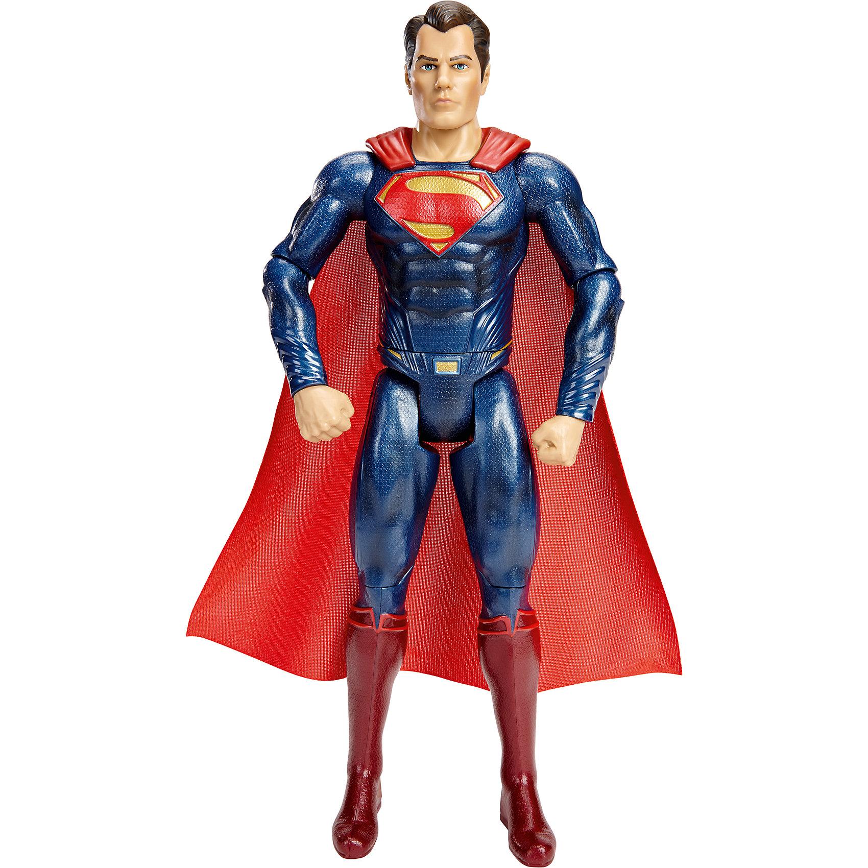Фигурка Бэтмен vs Супермен, 30 смБэтмен<br>Новые фигурки любимых персонажей из серии «Бэтмен против Супермена: На заре справедливости» приведут в восторг всех поклонников Marvel. Фигурка Супермена  максимально детализирована, имеет  тщательно проработанную мускулатуру и большое количество аксессуаров. За спиной развевается красный плащ, ставший символом Супермена, а на груди крупный знак в виде стилизованной буквы S. Игрушка выполнена из высококачественного пластика, раскрашена экологичными гипоаллергенными красителями, имеет более 10 шарниров, что позволяет приобретать любые, очень реалистичные позы. <br><br>Дополнительная информация:<br><br>- Материал: пластик.<br>- Размер фигурки: 30 см. <br>- Голова, руки, ноги подвижные (более 10 шарниров).<br>- Прекрасно детализированы.<br><br>Фигурку Бэтмен vs Супермен, 30 см, можно купить в нашем магазине.<br><br>Ширина мм: 70<br>Глубина мм: 230<br>Высота мм: 330<br>Вес г: 701<br>Возраст от месяцев: 36<br>Возраст до месяцев: 144<br>Пол: Мужской<br>Возраст: Детский<br>SKU: 4556234