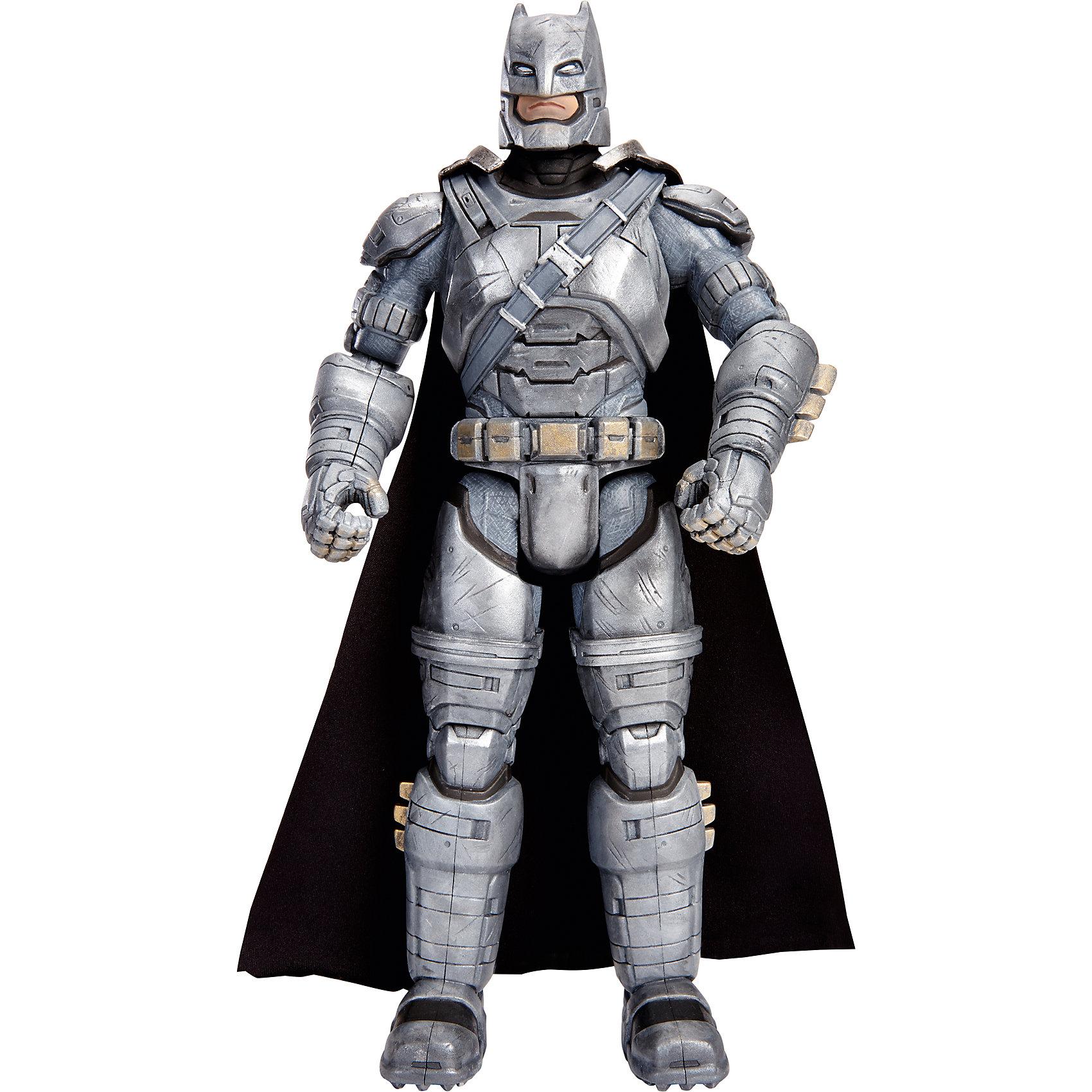 Фигурка Бэтмен vs Супермен, 30 смНовые фигурки любимых персонажей из серии «Бэтмен против Супермена: На заре справедливости» приведут в восторг всех поклонников Marvel. Фигурка Бэтмена  максимально детализирована, имеет  тщательно проработанную мускулатуру и большое количество аксессуаров. За спиной развевается черный плащ. Игрушка выполнена из высококачественного пластика, раскрашена экологичными гипоаллергенными красителями, имеет более 10 шарниров, что позволяет приобретать любые, очень реалистичные позы. <br><br>Дополнительная информация:<br><br>- Материал: пластик.<br>- Размер фигурки: 30 см. <br>- Голова, руки, ноги подвижные (более 10 шарниров).<br>- Прекрасно детализированы.<br><br>Фигурку Бэтмен vs Супермен, 30 см, можно купить в нашем магазине.<br><br>Ширина мм: 70<br>Глубина мм: 230<br>Высота мм: 330<br>Вес г: 701<br>Возраст от месяцев: 36<br>Возраст до месяцев: 144<br>Пол: Мужской<br>Возраст: Детский<br>SKU: 4556235