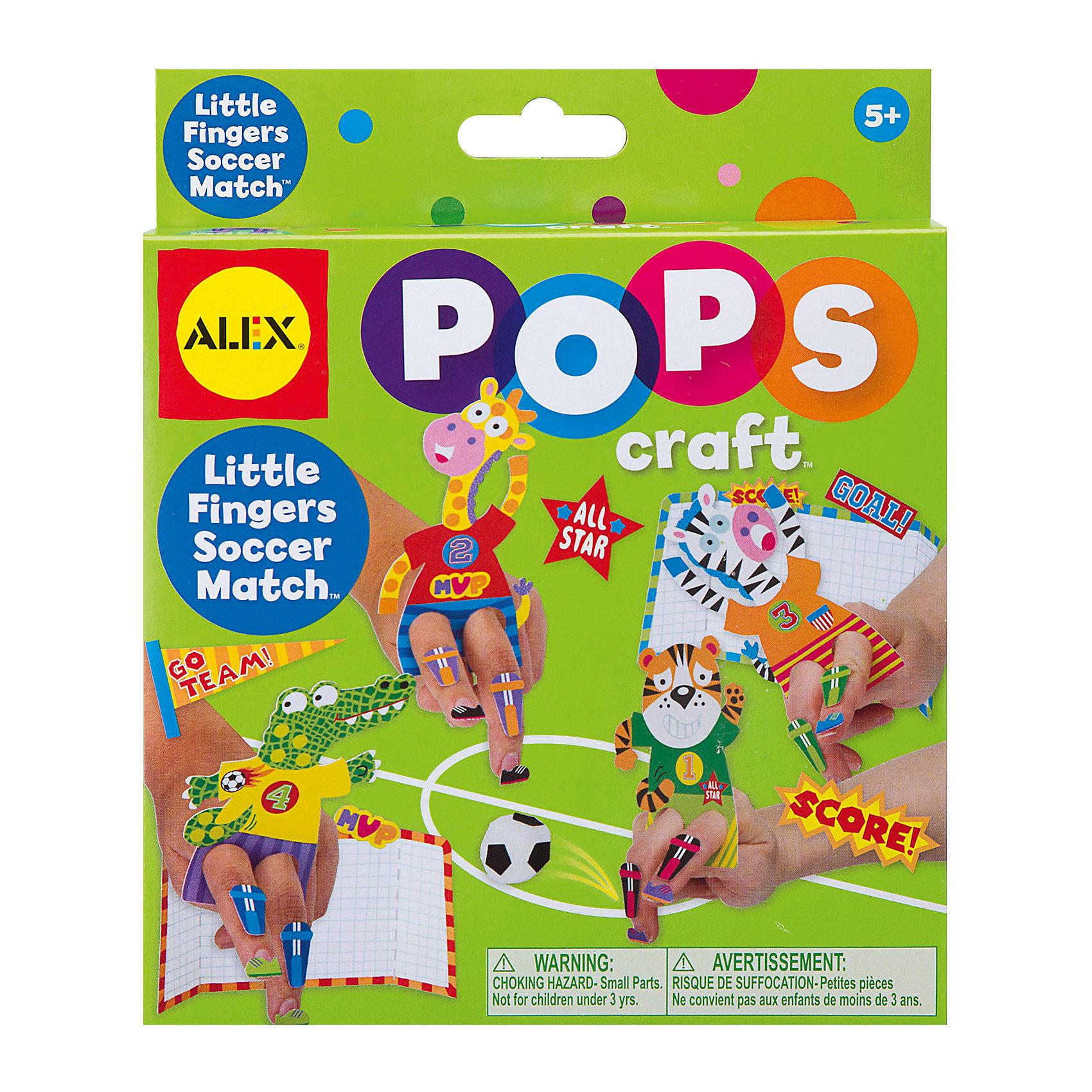 Набор для творчества POPS CRAFT Веселый футбол, ALEXНабор для творчества POPS CRAFT Веселый футбол, ALEX (АЛЕКС) - это набор для тех, кто любит мастерить, что то интересное своими руками.<br>Этот набор от компании ALEX (АЛЕКС) предоставит ребенку удивительную возможность создать бумажные фигурки в виде зверюшек-футболистов: тигра, зебры, крокодила и жирафа. В комплекте есть все необходимое для творчества: бумажные заготовки, наклейки и маленький мячик. Изготовить поделки достаточно просто, нужно лишь следовать пошаговой инструкции из комплекта. После того, как детские пальчики превратятся в настоящих футбольных игроков, можно начинать матч. Увлекательный процесс непременно заинтересует детей и подарит море восторга. Изготовление поделок своими руками развивает усидчивость, память, внимание, мелкую моторику рук, пространственное мышление, координацию движений и фантазию.<br><br>Дополнительная информация:<br><br>- В наборе: 9 бумажных заготовок; 90 наклеек; полипропиленовый мячик; инструкция<br>- Материал: картон, бумага<br>- Упаковка: картонная коробка<br>- Размеры упаковки: 15,2х3,8х18,4 см.<br>- Вес: 96 гр.<br><br>Набор для творчества POPS CRAFT Веселый футбол, ALEX (АЛЕКС) можно купить в нашем интернет-магазине.<br><br>Ширина мм: 152<br>Глубина мм: 38<br>Высота мм: 184<br>Вес г: 96<br>Возраст от месяцев: 60<br>Возраст до месяцев: 108<br>Пол: Мужской<br>Возраст: Детский<br>SKU: 4556950