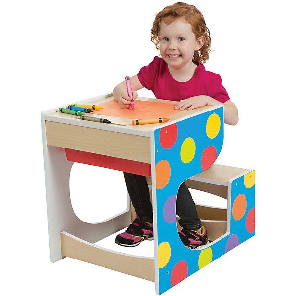Стол-парта со скамейкой, ALEXДетские столы и стулья<br>Стол-парта со скамейкой, ALEX – дополнит интерьер детской комнаты и прекрасно подойдет для занятий и игр.<br>Деревянная стол-парта со скамейкой от ALEX (АЛЕКС) — это отличная возможность организовать для ребенка пространство для игр и первых занятий. За этим столом можно рисовать, раскрашивать, собирать конструктор или делать первые шаги на учебном поприще. На поверхности стола можно рисовать мелом. В столе есть вместительный пластиковый ящик для хранения необходимых художественных и учебных принадлежностей. Эргономичный дизайн стола-парты и яркое оформление делают его прекрасным дополнением интерьера детской комнаты. Изделие изготовлено из высококачественных материалов.<br><br>Дополнительная информация:<br><br>- Размер стола-парты: 52х48х61 см.<br>- Материал: древесина, пластик<br>- Размеры упаковки: 138,4х12,1х75,6 см.<br>- Вес: 26 кг.<br><br>Стол-парту со скамейкой, ALEX (АЛЕКС) можно купить в нашем интернет-магазине.<br><br>Ширина мм: 1384<br>Глубина мм: 121<br>Высота мм: 756<br>Вес г: 26082<br>Возраст от месяцев: 36<br>Возраст до месяцев: 72<br>Пол: Унисекс<br>Возраст: Детский<br>SKU: 4556958