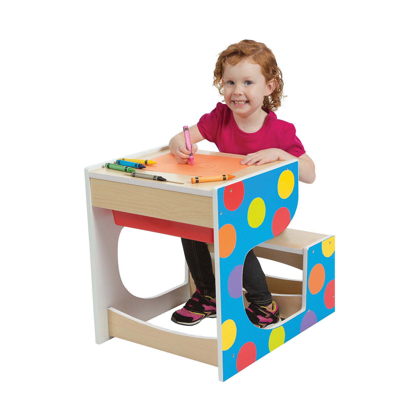 Стол-парта со скамейкой, ALEXМебель<br>Стол-парта со скамейкой, ALEX – дополнит интерьер детской комнаты и прекрасно подойдет для занятий и игр.<br>Деревянная стол-парта со скамейкой от ALEX (АЛЕКС) — это отличная возможность организовать для ребенка пространство для игр и первых занятий. За этим столом можно рисовать, раскрашивать, собирать конструктор или делать первые шаги на учебном поприще. На поверхности стола можно рисовать мелом. В столе есть вместительный пластиковый ящик для хранения необходимых художественных и учебных принадлежностей. Эргономичный дизайн стола-парты и яркое оформление делают его прекрасным дополнением интерьера детской комнаты. Изделие изготовлено из высококачественных материалов.<br><br>Дополнительная информация:<br><br>- Размер стола-парты: 52х48х61 см.<br>- Материал: древесина, пластик<br>- Размеры упаковки: 138,4х12,1х75,6 см.<br>- Вес: 26 кг.<br><br>Стол-парту со скамейкой, ALEX (АЛЕКС) можно купить в нашем интернет-магазине.<br><br>Ширина мм: 1384<br>Глубина мм: 121<br>Высота мм: 756<br>Вес г: 26082<br>Возраст от месяцев: 36<br>Возраст до месяцев: 72<br>Пол: Унисекс<br>Возраст: Детский<br>SKU: 4556958