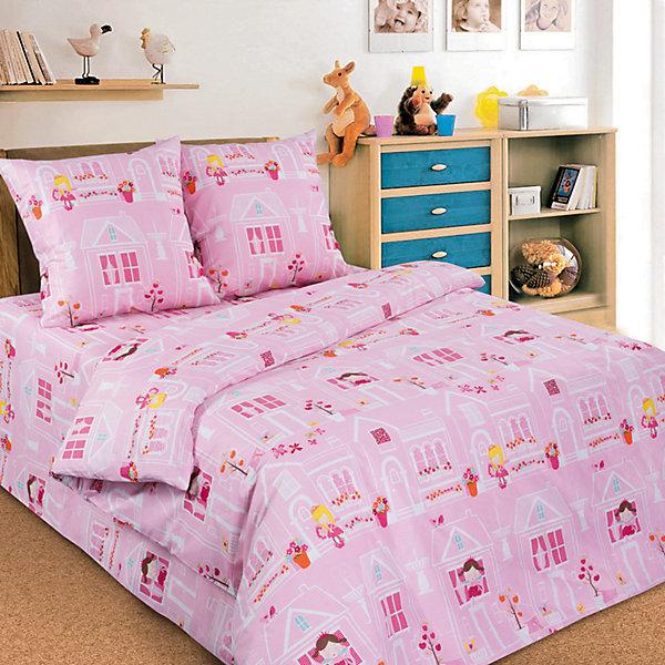 Комплект Домик Принцессы 1,5-спальный (наволочка 50х70)Детское постельное бельё<br>Очаровательный комплект с изображениями милых принцесс в домиках выполнен в нежно - розовой цветовой гамме и обязательно понравится девочкам. В производстве изделия используются качественные  красители, что позволяет  сохранять яркость цвета на протяжении всего времени эксплуатации. Натуральная ткань не вызывает аллергических реакций, обладают высокой воздухопроницаемостью, гипоаллергенна. Прекрасный вариант для подарка на любой праздник. <br><br>Дополнительная информация:<br><br>- Комплектация: наволочка (1 шт.), простыня (1 шт.), пододеяльник (1 шт.).<br>- Материал: бязь (100% хлопок).<br>- Размер: наволочка -  50х70 см, простыня - 148х215 см, пододеяльник - 215х143 см.<br>- Цвет: розовый.<br>- Декоративные элементы: принт.<br><br>Комплект Домик Принцессы, 1,5-спальный (наволочка 50х70), можно купить в нашем магазине.<br><br>Ширина мм: 390<br>Глубина мм: 40<br>Высота мм: 280<br>Вес г: 1500<br>Возраст от месяцев: 36<br>Возраст до месяцев: 120<br>Пол: Женский<br>Возраст: Детский<br>SKU: 4557455