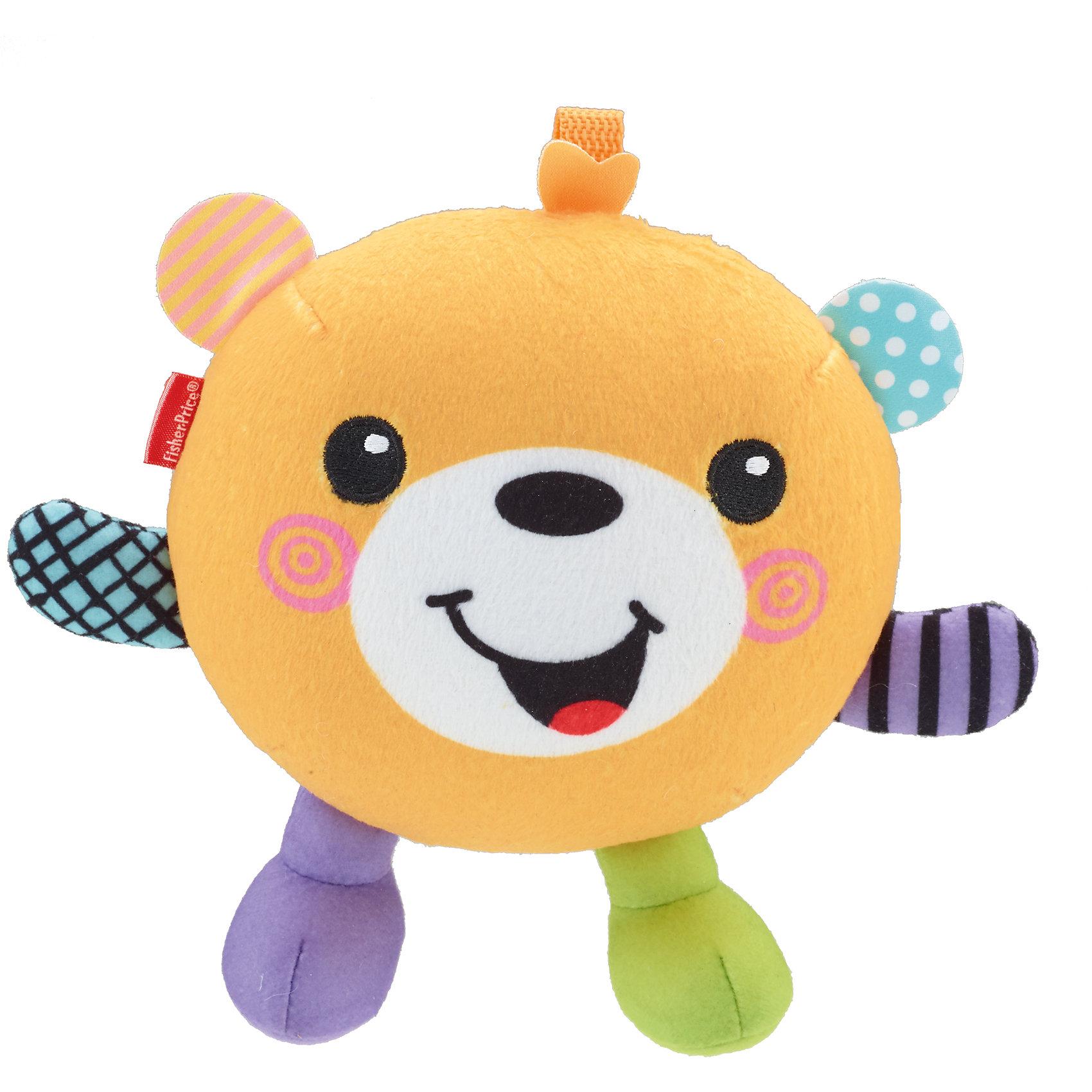 Игрушки Веселые друзья, со звуком, Fisher-PriceОчаровательные зверята обязательно понравятся малышам! Милый медвежонок развеселит кроху своим заразительным смехом и подарим множество улыбок и отличное настроение. Игрушка выполнена из экологичных материалов различной фактуры, что помогает развить  моторику рук и тактильное восприятие. <br><br>Дополнительная информация:<br><br>- Материал: текстиль, пластик. <br>- Размер: 20х16 см. <br>- Звуковые эффекты: смех. <br>- В производстве игрушки использованы безопасные для детей материалы. <br>- Элемент питания: 2 ААА батарейки (в комплекте). <br><br>Игрушку Веселые друзья, со звуком, Fisher-Price (Фишер Прайс), можно купить в нашем магазине.<br><br>Ширина мм: 165<br>Глубина мм: 100<br>Высота мм: 205<br>Вес г: 288<br>Возраст от месяцев: 24<br>Возраст до месяцев: 60<br>Пол: Унисекс<br>Возраст: Детский<br>SKU: 4557614