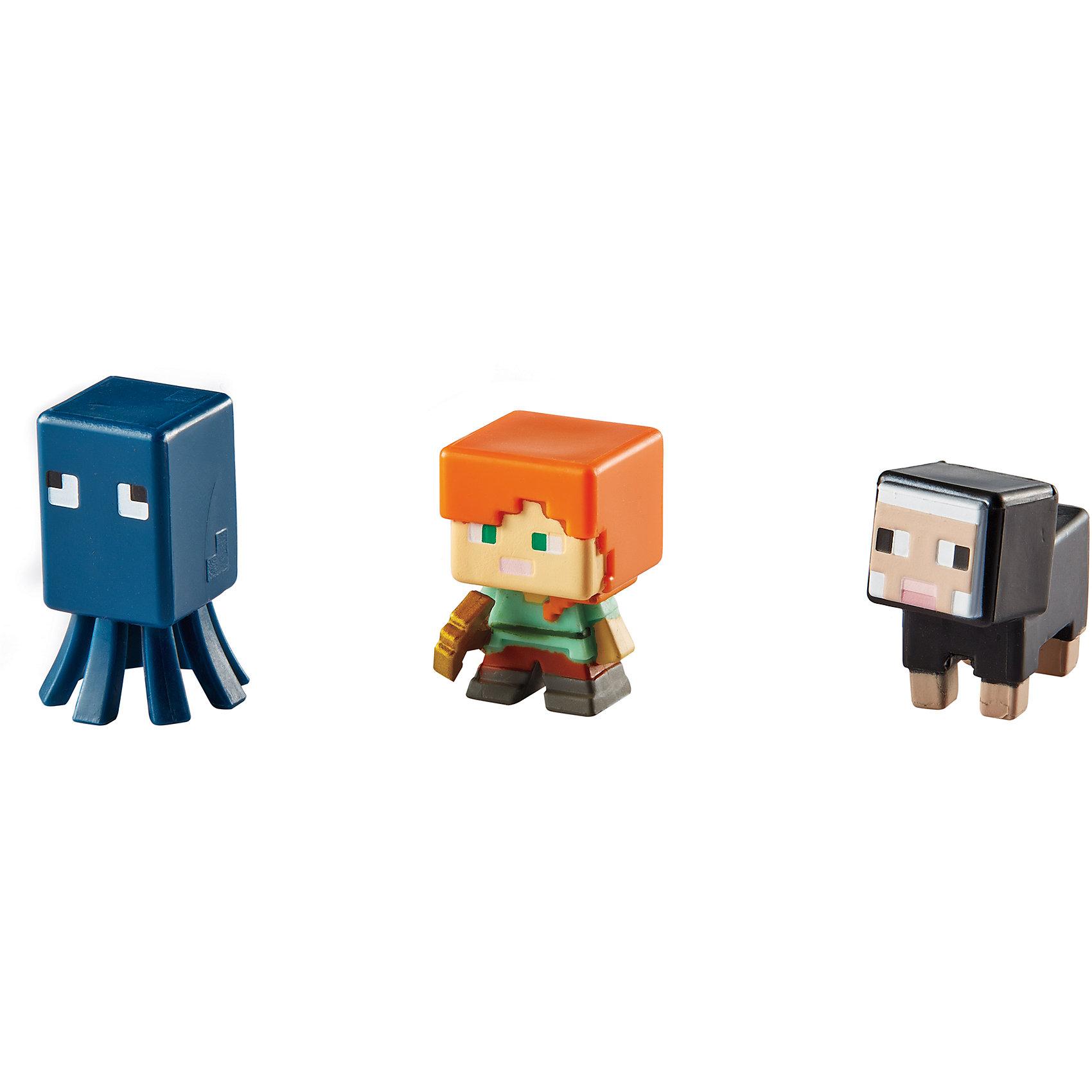 Набор из 3х фигурок  MinecraftЭти фигурки приведут в восторг всех поклонников Minecraft. Они прекрасно детализированы, реалистично раскрашены, очень похожи на героев компьютерной игры. Собери все фигурки, создавай свои мир Майнкрафт прямо на письменном столе или там, где ты пожелаешь! Игрушки выполнены из высококачественных экологичных материалов безопасных для детей. В наборе: Осьминог, Алекс, Черная овца. <br><br>Дополнительная информация:<br><br>- Материал: пластик.<br>- Размер упаковки: 16,5х16,5х4 см.<br>- Размер фигурки: 3 см. <br>- 3 фигурки в комплекте. <br><br>Набор из 3х фигурок  Minecraft (Майнкрафт) можно купить в нашем магазине.<br><br>Ширина мм: 166<br>Глубина мм: 137<br>Высота мм: 30<br>Вес г: 37<br>Возраст от месяцев: 36<br>Возраст до месяцев: 72<br>Пол: Мужской<br>Возраст: Детский<br>SKU: 4557618