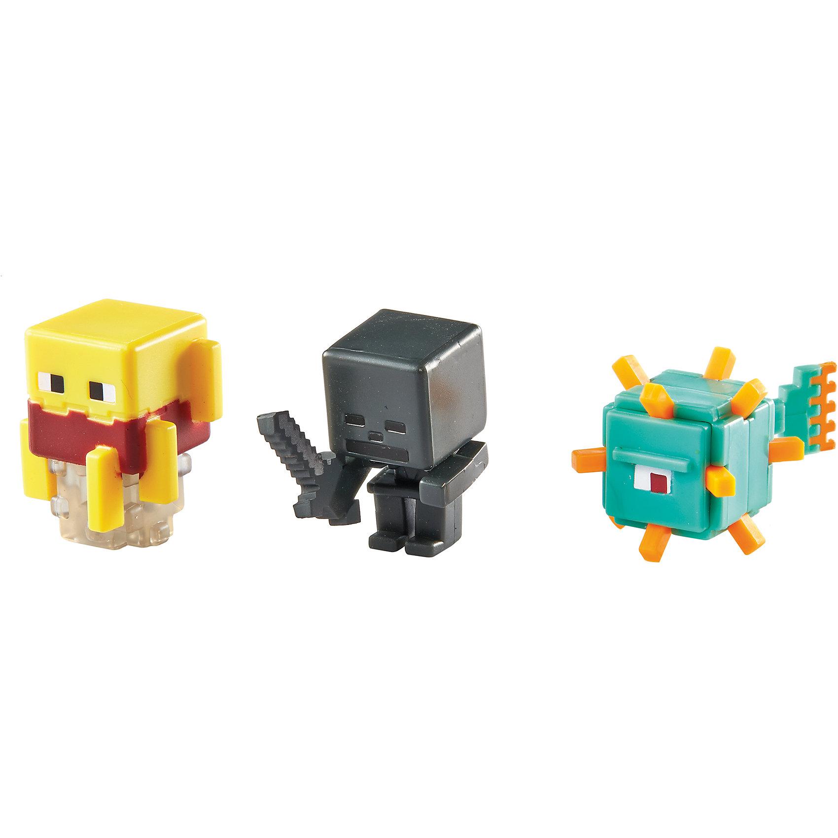 Набор из 3х фигурок  MinecraftMinecraft<br>Эти фигурки приведут в восторг всех поклонников Minecraft. Они прекрасно детализированы, реалистично раскрашены, очень похожи на героев компьютерной игры. Собери все фигурки, создавай свои мир Майнкрафт прямо на письменном столе или там, где ты пожелаешь! Игрушки выполнены из высококачественных экологичных материалов безопасных для детей. В наборе: Страж, Скелет-иссушитель и Ифрит.<br><br>Дополнительная информация:<br><br>- Материал: пластик.<br>- Размер упаковки: 16,5х16,5х4 см.<br>- Размер фигурки: 3 см. <br>- 3 фигурки в комплекте. <br><br>Набор из 3х фигурок  Minecraft (Майнкрафт) можно купить в нашем магазине.<br><br>Ширина мм: 166<br>Глубина мм: 137<br>Высота мм: 30<br>Вес г: 37<br>Возраст от месяцев: 36<br>Возраст до месяцев: 72<br>Пол: Мужской<br>Возраст: Детский<br>SKU: 4557619