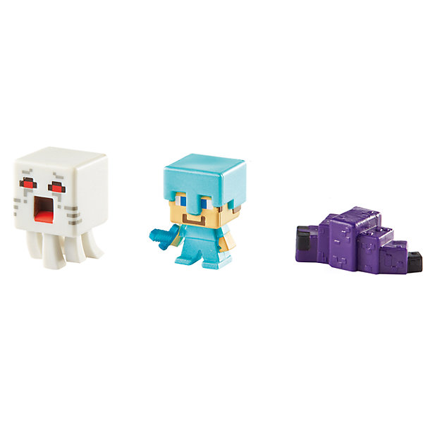Набор из 3х фигурок  MinecraftMinecraft<br>Эти фигурки приведут в восторг всех поклонников Minecraft. Они прекрасно детализированы, реалистично раскрашены, очень похожи на героев компьютерной игры. Собери все фигурки, создавай свои мир Майнкрафт прямо на письменном столе или там, где ты пожелаешь! Игрушки выполнены из высококачественных экологичных материалов безопасных для детей. В наборе: Гаст, Стив и Чешуйница Края.<br><br>Дополнительная информация:<br><br>- Материал: пластик.<br>- Размер упаковки: 16,5х16,5х4 см.<br>- Размер фигурки: 3 см. <br>- 3 фигурки в комплекте. <br><br>Набор из 3х фигурок  Minecraft (Майнкрафт) можно купить в нашем магазине.<br><br>Ширина мм: 166<br>Глубина мм: 137<br>Высота мм: 30<br>Вес г: 37<br>Возраст от месяцев: 36<br>Возраст до месяцев: 72<br>Пол: Мужской<br>Возраст: Детский<br>SKU: 4557620