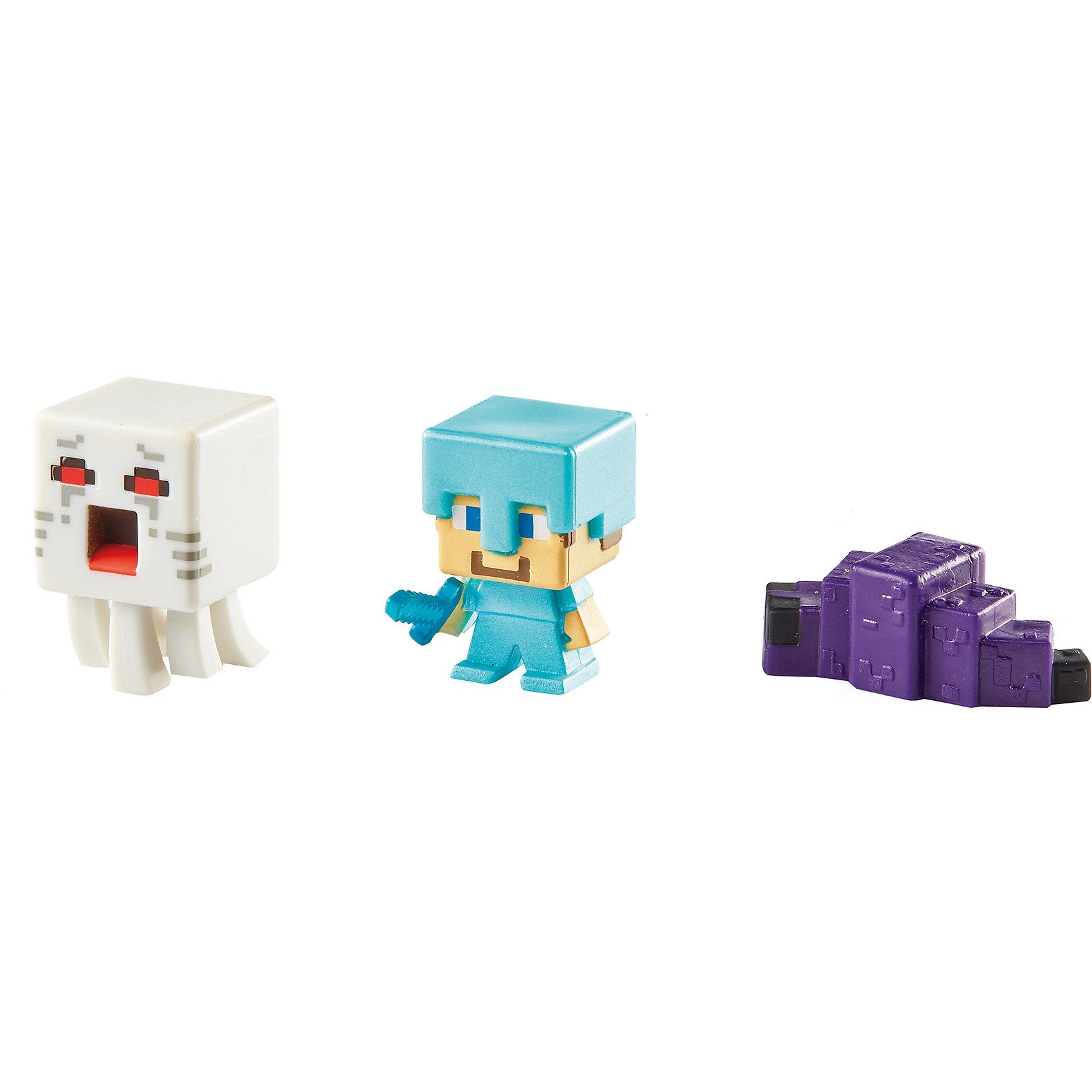 Mattel Набор из 3х фигурок  Minecraft купить 3х комнатные квартиры в подольске по улице вокзальная