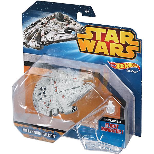 Звездный корабль Star Wars, Hot WheelsМашинки Hot wheels<br>Эта игрушка приведет в восторг всех любителей саги Звездные войны! Межгалактический звездолет является точной копией корабля, представленного в фильме. Надевай на руку устройство light Navigator (подставку) и запускай свой звездный корабль в межгалактическое пространство! Собери все игрушки серии Hot Wheels Star Wars и устрой настоящее звездное сражение! Все элементы набора выполнены из высококачественного экологичного пластика безопасного для детей. <br><br>Дополнительная информация:<br><br>- Материал: пластик. <br>- Размер упаковки: 16х6х16,5 см.<br>- Комплектация: корабль, подставка. <br>- Длина корабля: 9 см.<br>- Высота подставки: 6 см.<br>- Совместим с другими игрушками из серии Hot Wheels Star Wars.<br><br> Звездный корабль Star Wars, Hot Wheels (Хот Вилс), можно купить в нашем магазине.<br><br>Ширина мм: 160<br>Глубина мм: 55<br>Высота мм: 165<br>Вес г: 330<br>Возраст от месяцев: 36<br>Возраст до месяцев: 72<br>Пол: Мужской<br>Возраст: Детский<br>SKU: 4557627