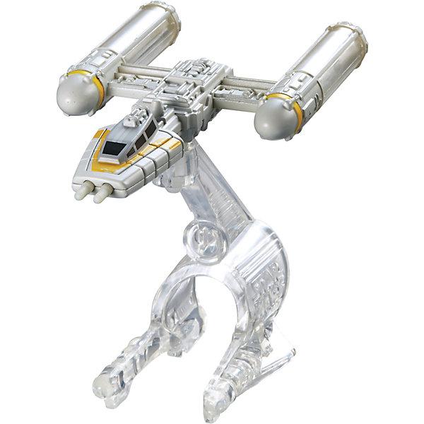 Звездный корабль Star Wars, Hot WheelsЗвездные войны Игрушки<br>Эта игрушка приведет в восторг всех любителей саги Звездные войны! Межгалактический звездолет является точной копией корабля, представленного в фильме. Надевай на руку устройство light Navigator (подставку) и запускай свой звездный корабль в межгалактическое пространство! Собери все игрушки серии Hot Wheels Star Wars и устрой настоящее звездное сражение! Все элементы набора выполнены из высококачественного экологичного пластика безопасного для детей. <br><br>Дополнительная информация:<br><br>- Материал: пластик. <br>- Размер упаковки: 16х6х16,5 см.<br>- Комплектация: корабль, подставка. <br>- Длина корабля: 9 см.<br>- Высота подставки: 6 см.<br>- Совместим с другими игрушками из серии Hot Wheels Star Wars.<br><br> Звездный корабль Star Wars, Hot Wheels (Хот Вилс), можно купить в нашем магазине.<br><br>Ширина мм: 160<br>Глубина мм: 55<br>Высота мм: 165<br>Вес г: 330<br>Возраст от месяцев: 48<br>Возраст до месяцев: 96<br>Пол: Мужской<br>Возраст: Детский<br>SKU: 4557628