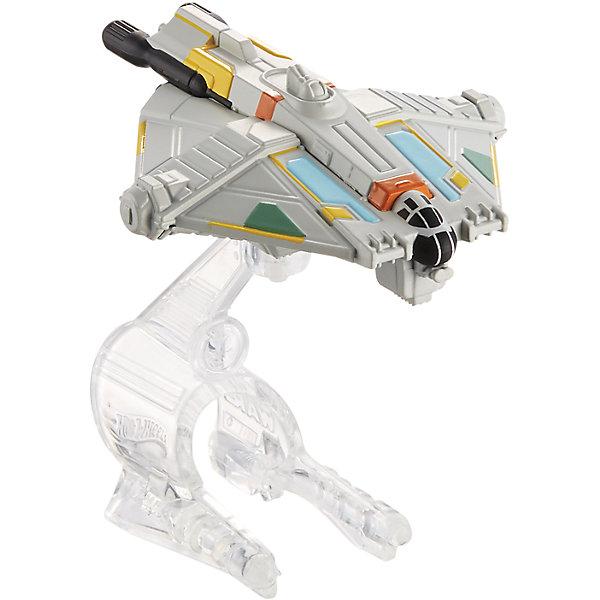 Звездный корабль Star Wars, Hot WheelsЗвездные войны<br>Эта игрушка приведет в восторг всех любителей саги Звездные войны! Межгалактический звездолет является точной копией корабля, представленного в фильме. Надевай на руку устройство light Navigator (подставку) и запускай свой звездный корабль в межгалактическое пространство! Собери все игрушки серии Hot Wheels Star Wars и устрой настоящее звездное сражение! Все элементы набора выполнены из высококачественного экологичного пластика безопасного для детей. <br><br>Дополнительная информация:<br><br>- Материал: пластик. <br>- Размер упаковки: 16х6х16,5 см.<br>- Комплектация: корабль, подставка. <br>- Длина корабля: 8 см.<br>- Высота подставки: 6 см.<br>- Совместим с другими игрушками из серии Hot Wheels Star Wars.<br><br> Звездный корабль Star Wars, Hot Wheels (Хот Вилс), можно купить в нашем магазине.<br>Ширина мм: 160; Глубина мм: 55; Высота мм: 165; Вес г: 330; Возраст от месяцев: 48; Возраст до месяцев: 96; Пол: Мужской; Возраст: Детский; SKU: 4557629;