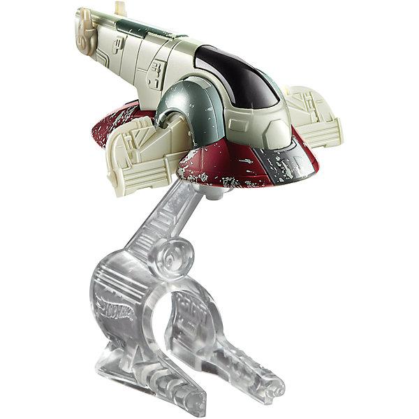 Звездный корабль Star Wars, Hot WheelsЗвездные войны<br>Эта игрушка приведет в восторг всех любителей саги Звездные войны! Межгалактический звездолет является точной копией корабля, представленного в фильме. Надевай на руку устройство light Navigator (подставку) и запускай свой звездный корабль в межгалактическое пространство! Собери все игрушки серии Hot Wheels Star Wars и устрой настоящее звездное сражение! Все элементы набора выполнены из высококачественного экологичного пластика безопасного для детей. <br><br>Дополнительная информация:<br><br>- Материал: пластик. <br>- Размер упаковки: 16х6х16,5 см.<br>- Комплектация: корабль, подставка. <br>- Длина корабля: 9 см.<br>- Высота подставки: 6 см.<br>- Совместим с другими игрушками из серии Hot Wheels Star Wars.<br><br> Звездный корабль Star Wars, Hot Wheels (Хот Вилс), можно купить в нашем магазине.<br>Ширина мм: 160; Глубина мм: 55; Высота мм: 165; Вес г: 330; Возраст от месяцев: 36; Возраст до месяцев: 72; Пол: Мужской; Возраст: Детский; SKU: 4557634;