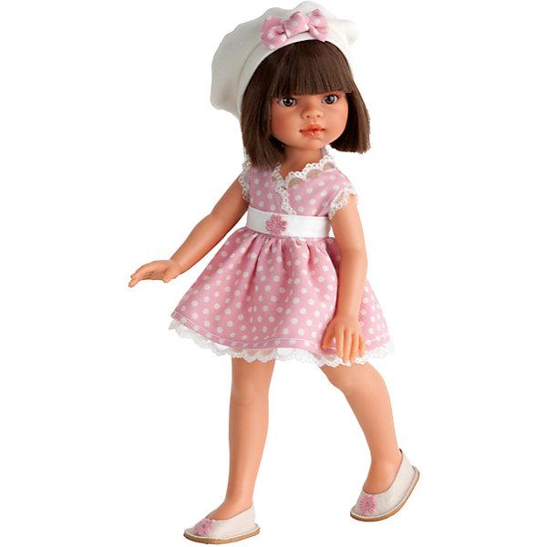 Кукла Эмили, брюнетка, 33 см, Munecas Antonio JuanБренды кукол<br>Кукла Эмили, брюнетка, 33 см, Munecas Antonio Juan (Мунекас Антонио Хуан) – это красивая кукла в летнем наряде порадует вашу девочку.<br>Очаровательная девочка Эмили - это высококачественная кукла, созданная испанским производителем Мунекас Антонио Хуан. У Эмили грациозная стройная фигура и симпатичное лицо, выполненное с тщательной прорисовкой деталей. Выразительные глазки обрамлены длинными ресницами. Густые шелковистые волосы легко расчесывать и делать различные прически. Руки, ноги и голова куклы подвижны. Глаза не закрываются. Стильный наряд куклы создан испанским дизайнером. Эмили одета в нежно-розовое платьице в белый горошек, изящный беретик с бантиком, а на ножках – красивые белые туфельки с цветочком. Кукла изготовлена из высококачественного винила с добавлением силикона.<br><br>Дополнительная информация:<br><br>- Высота куклы: 33 см.<br>- Материал: текстиль, высококачественный винил, силикон<br>- Упаковка: подарочная коробка<br>- Размер упаковки: 39х24,5х9,5 см.<br>- Вес: 683 гр.<br><br>Куклу Эмили, брюнетку, 33 см, Munecas Antonio Juan (Мунекас Антонио Хуан) можно купить в нашем интернет-магазине.<br>Ширина мм: 390; Глубина мм: 245; Высота мм: 95; Вес г: 683; Возраст от месяцев: 36; Возраст до месяцев: 84; Пол: Женский; Возраст: Детский; SKU: 4558041;