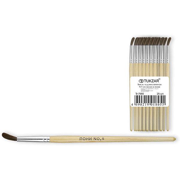 Кисть №5 (пони)Краски и кисточки<br>Кисти оптимально подходят для рисования акварелью и гуашью: они мягкие, хорошо впитывают краску и отлично держат форму. Имеют удобную деревянную ручку и безопасную алюминиевую обойму. <br>Рисование - неотъемлемая часть гармоничного развития личности ребенка, в процессе которого воспитывается эстетическое восприятие и вкус, тренируется моторика, развивается цветовосприятие и фантазия.  <br><br>Дополнительная информация:<br><br>- Материал: дерево, металл, ворс пони.<br>- Форма кисти: круглая.<br>- Размер: №5.<br><br>Кисть №5 (пони) можно купить в нашем магазине.<br>Ширина мм: 150; Глубина мм: 10; Высота мм: 10; Вес г: 5; Возраст от месяцев: 36; Возраст до месяцев: 120; Пол: Унисекс; Возраст: Детский; SKU: 4558380;