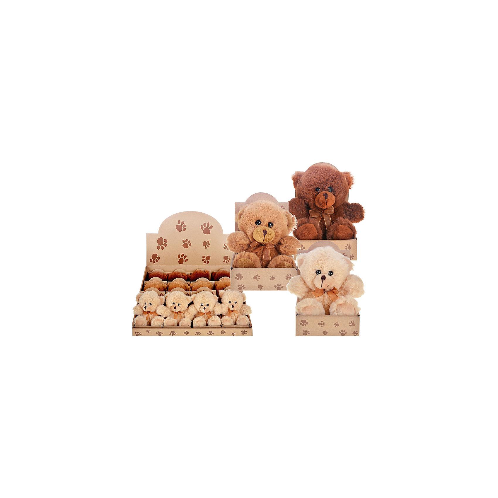 Мягкая игрушка Очаровательный мишка (цвет в ассортименте)Очаровательный мягкий мишка - прекрасный подарок на любой праздник. Дети обожают мягкие игрушки и всегда будут рады новому плюшевому или меховому другу! Игрушка выполнена из высококачественных экологичных материалов, плотно набита, приятна на ощупь. <br><br>Дополнительная информация:<br><br>- Материал: текстиль, пластик, синтепон.<br>- Размер: 12,5х7,5х10 см. <br>- 3 цвета в ассортименте: коричневый, светло-коричневый, бежевый.<br><br>ВНИМАНИЕ! Данный артикул представлен в разных вариантах исполнения. К сожалению, заранее выбрать определенный вариант невозможно. При заказе нескольких игрушек возможно получение одинаковых.<br><br>Мягкую игрушку Мишка (3 цвета в ассортименте) можно купить в нашем магазине.<br><br>Ширина мм: 120<br>Глубина мм: 90<br>Высота мм: 120<br>Вес г: 98<br>Возраст от месяцев: 36<br>Возраст до месяцев: 144<br>Пол: Унисекс<br>Возраст: Детский<br>SKU: 4558385