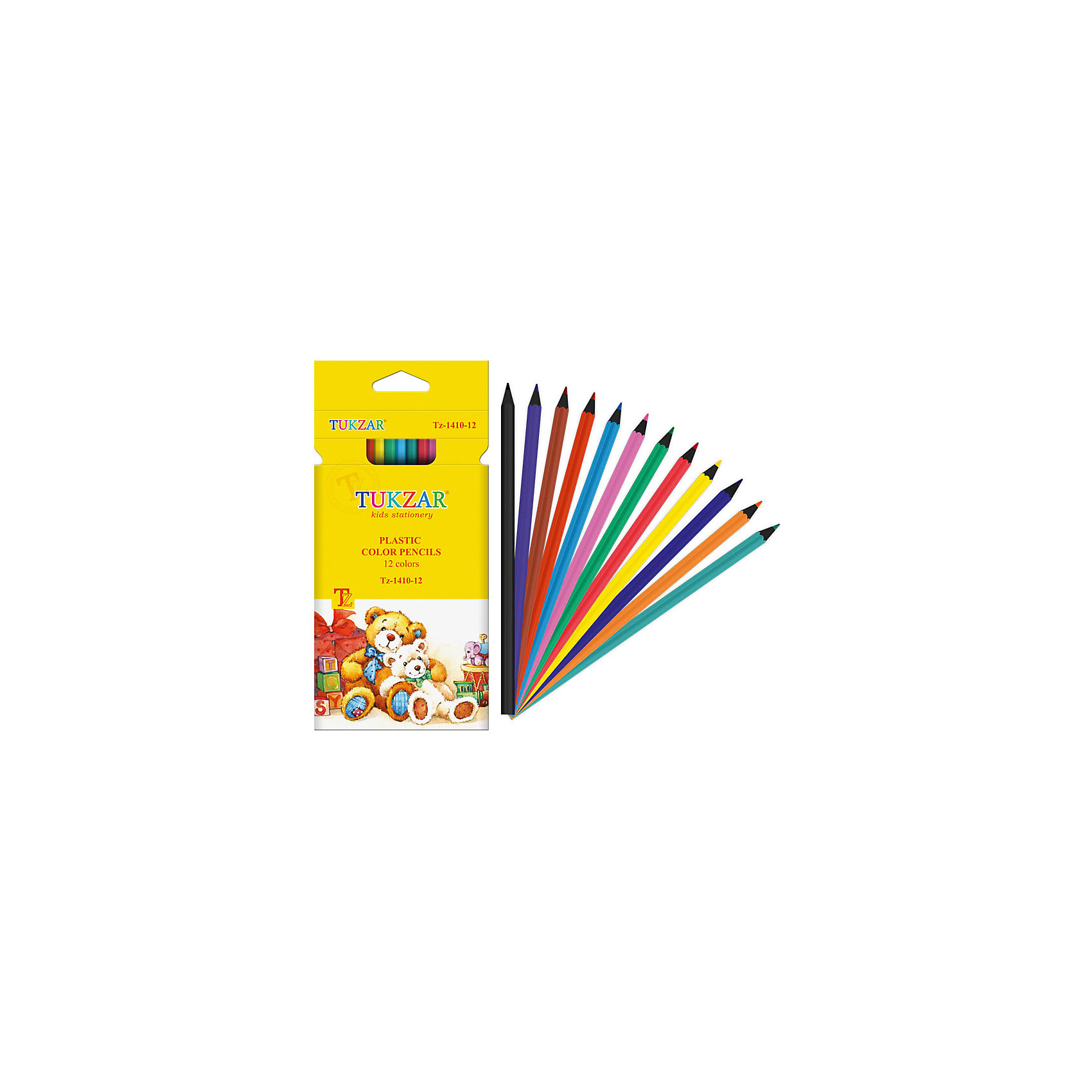 TUKZAR Цветные карандаши 12 цветов купить шнурки цветные оптом дешево