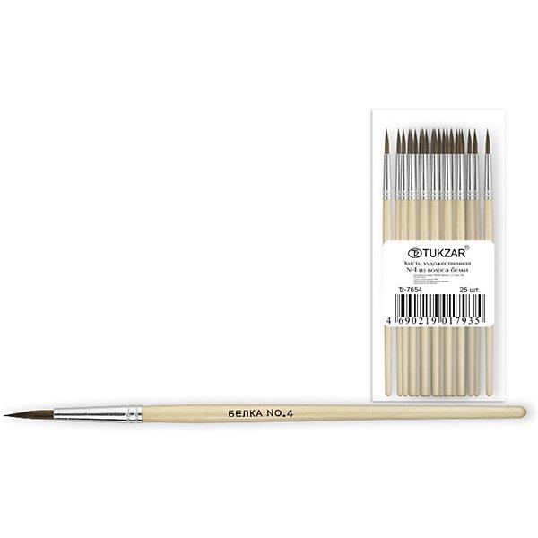 Кисть №4 (белка)Кисти художественные<br>Кисть оптимально подходит для рисования акварелью и гуашью: она мягкие, хорошо впитывают краску и отлично держит форму. Имеет удобную деревянную ручку и безопасную алюминиевую обойму. <br>Рисование - неотъемлемая часть гармоничного развития личности ребенка, в процессе которого воспитывается эстетическое восприятие и вкус, тренируется моторика, развивается цветовосприятие и фантазия.  <br><br><br>Дополнительная информация:<br><br>- Материал: дерево, металл, ворс белки.<br>- Форма кисти: круглая.<br>- Размер: №4<br><br>Кисть №4 (белка) можно купить в нашем магазине.<br><br>Ширина мм: 150<br>Глубина мм: 10<br>Высота мм: 10<br>Вес г: 4<br>Возраст от месяцев: 36<br>Возраст до месяцев: 120<br>Пол: Унисекс<br>Возраст: Детский<br>SKU: 4558527