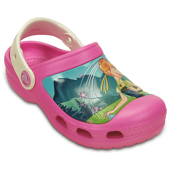 Сабо Kids' Creative Crocs Frozen Fever Clog для девочки CrocsПляжная обувь<br>Характеристики товара:<br><br>• цвет: розовый<br>• материал: 100% полимер Croslite™<br>• литая модель<br>• вентиляционные отверстия<br>• бактериостатичный материал<br>• пяточный ремешок фиксирует стопу<br>• толстая устойчивая подошва<br>• с принтом<br>• анатомическая стелька с массажными точками стимулирует кровообращение<br>• страна бренда: США<br>• страна изготовитель: Китай<br><br>Для правильного развития ребенка крайне важно, чтобы обувь была удобной. Такие сабо обеспечивают детям необходимый комфорт, а анатомическая стелька с массажными линиями для стимуляции кровообращения позволяет ножкам дольше не уставать. Сабо легко надеваются и снимаются, отлично сидят на ноге. Материал, из которого они сделаны, не дает размножаться бактериям, поэтому такая обувь препятствует образованию неприятного запаха и появлению болезней стоп. <br>Обувь от американского бренда Crocs в данный момент завоевала широкую популярность во всем мире, и это не удивительно - ведь она невероятно удобна. Её носят врачи, спортсмены, звёзды шоу-бизнеса, люди, которым много времени приходится бывать на ногах - они понимают, как важна комфортная обувь. Продукция Crocs - это качественные товары, созданные с применением новейших технологий. Обувь отличается стильным дизайном и продуманной конструкцией. Изделие производится из качественных и проверенных материалов, которые безопасны для детей.<br><br>Сабо для девочки от торговой марки Crocs можно купить в нашем интернет-магазине.<br><br>Ширина мм: 225<br>Глубина мм: 139<br>Высота мм: 112<br>Вес г: 290<br>Цвет: розовый<br>Возраст от месяцев: -2147483648<br>Возраст до месяцев: 2147483647<br>Пол: Женский<br>Возраст: Детский<br>Размер: 21/22,27/28,21/22,25/26,25/26,33/34,34/35,31/32,23/24,29/30<br>SKU: 4558834
