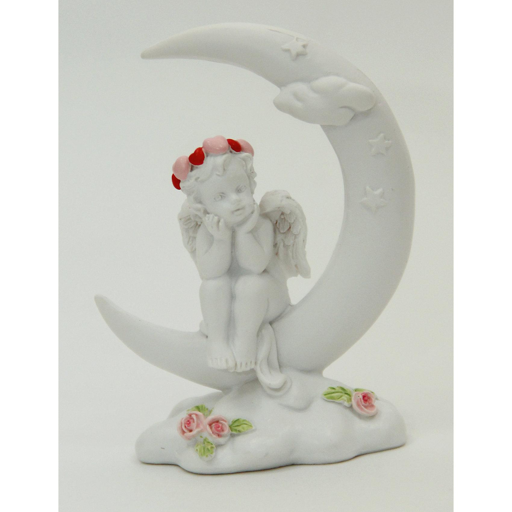 Фигурка Лунные мечты 6,2*3,5*8,3 смДекоративная фигурка в виде очаровательного задумчивого ангела, сидящего на месяце, станет отличным памятным сувениром на любой праздник. <br><br>Дополнительная информация:<br><br>- Материал: полирезина.<br>- Размер: 6,2х3,5х8,3 см. <br>- Цвет: белый. <br><br>Фигурку Лунные мечты 6,2х3,5х8,3 см можно купить в нашем магазине.<br><br>Ширина мм: 62<br>Глубина мм: 35<br>Высота мм: 83<br>Вес г: 66<br>Возраст от месяцев: 36<br>Возраст до месяцев: 2147483647<br>Пол: Женский<br>Возраст: Детский<br>SKU: 4560527