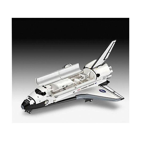 Набор Космический шатл Атлантис, RevellМодели для сборки<br>Подарочный набор с моделью космического шаттла Atlantis. Помимо сборной моделью из пластка в комплект включены базовые краски, кисточка и клей.<br>Четвертый из серии космических транспортных кораблей NASA. Строительство корабля началось в 1980 году, а через 5 лет он совершил свой первый полет. Всего Atlantis совершил 33 вылета. Последний полет был осуществлен 8 июля 2011 года. Сейчас шаттл находится в космическом центре им. Кеннеди на мысе Канаверал.<br><br>Дополнительная информация:<br><br>Масштаб: 1:144<br>Количество деталей: 64<br>Длина модели: 252 мм<br>Размах крыльев: 167 мм<br>В комплект входят клей, базовые краски и кисточка.<br><br>Набор Космический шатл Атлантис, Revell  можно купить в нашем магазине.<br><br>Ширина мм: 390<br>Глубина мм: 340<br>Высота мм: 62<br>Вес г: 683<br>Возраст от месяцев: 120<br>Возраст до месяцев: 180<br>Пол: Мужской<br>Возраст: Детский<br>SKU: 4560886