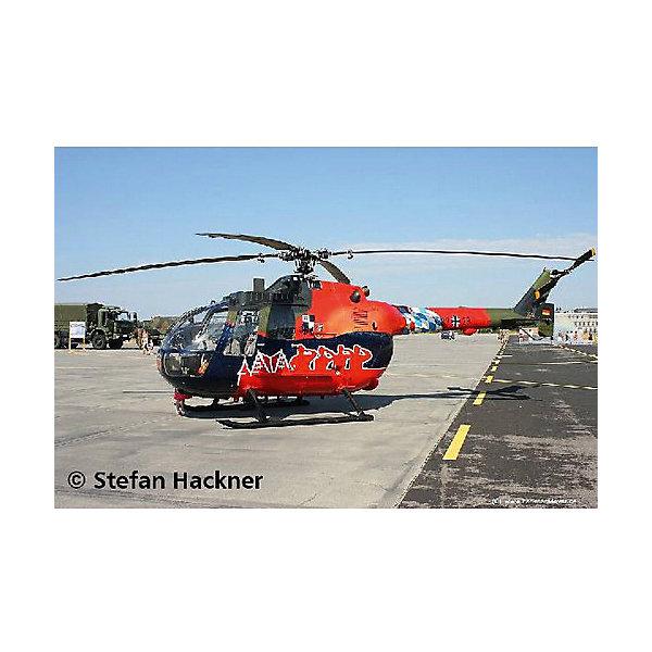 Набор Вертолет Fly Out Paintin, RevellСамолеты и вертолеты<br>Вертолёт BO 105 Fly Out Paintin является наиболее удачной моделью в легком классе. Из-за его манёвренности, вертолёт подходит для многоцелевого использования. В частности, он применялся немецкой армией как связной и разведывательный вертолёт.  Великолепная, тщательно детализированная сборная модель BO 105 Fly Out Paintin является абсолютно точной уменьшенной копией своего прототипа в масштабе 1:32. Всего модель состоит из 84 отдельных компонентов, которые необходимо собрать, склеить и покрыть краской в соответствии с инструкцией в комплекте. В наборе также прилагаются краски с кисточкой и клей в удобной упаковке. Длина готовой модели составляет 267 мм, а размах лопастей несущего винта – 306 мм. Также в наборе есть уникальный набор наклеек для декорирования фюзеляжа.  Разработанная для детей от 10 лет, сборная модель немецкого вертолёта BO 105 Fly Out Paintin, несомненно, порадует взрослых любителей моделирования и коллекционеров военной техники. Моделирование относят к одному из наиболее полезных хобби, ведь оно отлично тренирует мелкую моторику, развивает такие навыки как усидчивость, аккуратность и внимательность. Кроме того, развивается пространственное мышление, логика и креативность.<br><br>Набор Вертолет Fly Out Paintin, Revell можно купить в нашем магазине.<br><br>Ширина мм: 390<br>Глубина мм: 340<br>Высота мм: 62<br>Вес г: 695<br>Возраст от месяцев: 120<br>Возраст до месяцев: 180<br>Пол: Мужской<br>Возраст: Детский<br>SKU: 4560889