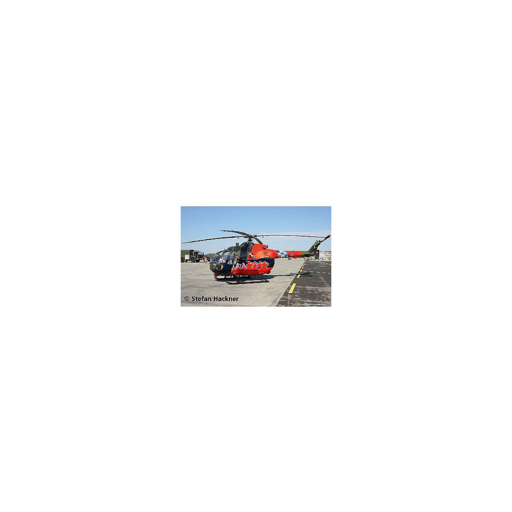 Набор Вертолет Fly Out Paintin, RevellСборные модели транспорта<br>Вертолёт BO 105 Fly Out Paintin является наиболее удачной моделью в легком классе. Из-за его манёвренности, вертолёт подходит для многоцелевого использования. В частности, он применялся немецкой армией как связной и разведывательный вертолёт.  Великолепная, тщательно детализированная сборная модель BO 105 Fly Out Paintin является абсолютно точной уменьшенной копией своего прототипа в масштабе 1:32. Всего модель состоит из 84 отдельных компонентов, которые необходимо собрать, склеить и покрыть краской в соответствии с инструкцией в комплекте. В наборе также прилагаются краски с кисточкой и клей в удобной упаковке. Длина готовой модели составляет 267 мм, а размах лопастей несущего винта – 306 мм. Также в наборе есть уникальный набор наклеек для декорирования фюзеляжа.  Разработанная для детей от 10 лет, сборная модель немецкого вертолёта BO 105 Fly Out Paintin, несомненно, порадует взрослых любителей моделирования и коллекционеров военной техники. Моделирование относят к одному из наиболее полезных хобби, ведь оно отлично тренирует мелкую моторику, развивает такие навыки как усидчивость, аккуратность и внимательность. Кроме того, развивается пространственное мышление, логика и креативность.<br><br>Набор Вертолет Fly Out Paintin, Revell можно купить в нашем магазине.<br><br>Ширина мм: 390<br>Глубина мм: 340<br>Высота мм: 62<br>Вес г: 695<br>Возраст от месяцев: 120<br>Возраст до месяцев: 180<br>Пол: Мужской<br>Возраст: Детский<br>SKU: 4560889