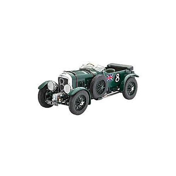 Набор Автомобиль Bentley, RevellАвтомобили<br>Компания Bentley принимала участие в 24х часовой гонке Ле-Ман каждый год, начиная с первой гонки в 1923 году. Разработка нового гоночного болида с объёмом двигателя в 4,5 литра началась уже в 1926 году. Успешный автомобиль был назван Bentley 4,5L Blower. Благодаря этой уникальной гоночной машине Бентли завоевал общую победу уже в 1928 году и подтвердил сво лидерство в дальнейших гонках Ле-Ман.  Превосходная сборная модель легендарного автомобиля Bentley 4,5L Blower является абсолютно точной уменьшенной копией своего прототипа. Всего модель состоит из 123 отдельных компонентов, которые необходимо собрать, склеить и покрыть краской в соответствии с инструкцией. В наборе с 123 отдельными частями авто есть клей для сборки и кисточка с красками, повторяющими подлинный дизайн знаменитого гоночного автомобиля. Модель Bentley 4,5L Blower тщательно проработана: точно воспроизведённая ходовая с интегрированными рессорами, двигатель, выполненный в мельчайших подробностях, состоящий из двух частей открывающийся капот, сложные передние крепления, вращающиеся детализированные колёса со спицами, запасное колесо, различные хромированные части позволяют поверить, что перед нами подлинный Bentley 4,5L Blower!  Разработанная для детей от 12 лет, сборная модель, определённо, принесёт массу положительных эмоций и взрослому любителю моделирования и коллекционеру старинных гоночных автомобилей. Сборка такой модели требует от моделиста определённых навыков. Её относят к моделированию на сложном уровне (№4). Моделирование отлично тренирует мелкую моторику, развивает в ребёнке такие навыки как усидчивость, аккуратность и внимательность. Кроме того, развивается пространственное мышление, логика и креативность.<br><br>Набор Автомобиль Bentley, Revell можно купить в нашем магазине.<br>Ширина мм: 370; Глубина мм: 340; Высота мм: 68; Вес г: 595; Возраст от месяцев: 144; Возраст до месяцев: 192; Пол: Мужской; Возраст: Детский; SKU: 4560890;