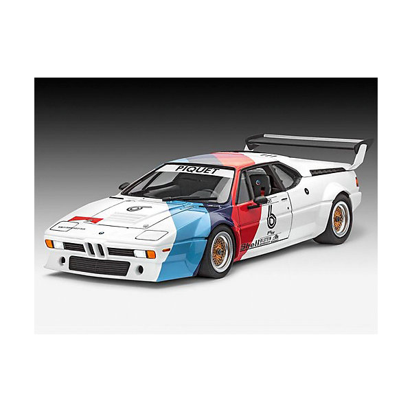 Набор Автомобиль BMW Procar, RevellМодели для склеивания<br>Гоночная версия автомобиля BMW M1 Procar была выпущена в 1978 году, а уже в 1979 машина принимала участие в европейской Формуле 1 Гран-При. В этих гонках соревновались между собой 20 абсолютно идентичных автомобилей BMW M1. Таким образом, победителя этих уникальных гонок определили его навыки вождения, а не техническая поддержка.  Восхитительная сборная модель BMW M1 Procar является точной уменьшенной копией своего прототипа в масштабе 1:24. Всего модель состоит из 91 отдельного компонента, а длина готового макета составляет 191 мм. В наборе прилагаются клей, краски и кисточка для сборки и покраски модели в соответствии с инструкцией. Подлинный кузов автомобиля, выполненный в мельчайших подробностях, реалистичные шасси, детализированная приборная панель убедят вас в подлинности гоночного автомобиля.  Разработанная для детей от 12 лет, сборная модель, несомненно, порадует и взрослых любителей моделирования и высоких скоростей. Сборка такой модели потребует от моделиста всех его навыков. Её относят к моделированию сложного уровня (№4). Моделирование отлично тренирует мелкую моторику, развивает в ребёнке такие навыки как усидчивость, аккуратность и внимательность. Кроме того, развивается пространственное мышление, логика и креативность.<br><br>Набор Автомобиль BMW Procar, Revell можно купить в нашем магазине.<br><br>Ширина мм: 370<br>Глубина мм: 340<br>Высота мм: 68<br>Вес г: 685<br>Возраст от месяцев: 144<br>Возраст до месяцев: 192<br>Пол: Мужской<br>Возраст: Детский<br>SKU: 4560892