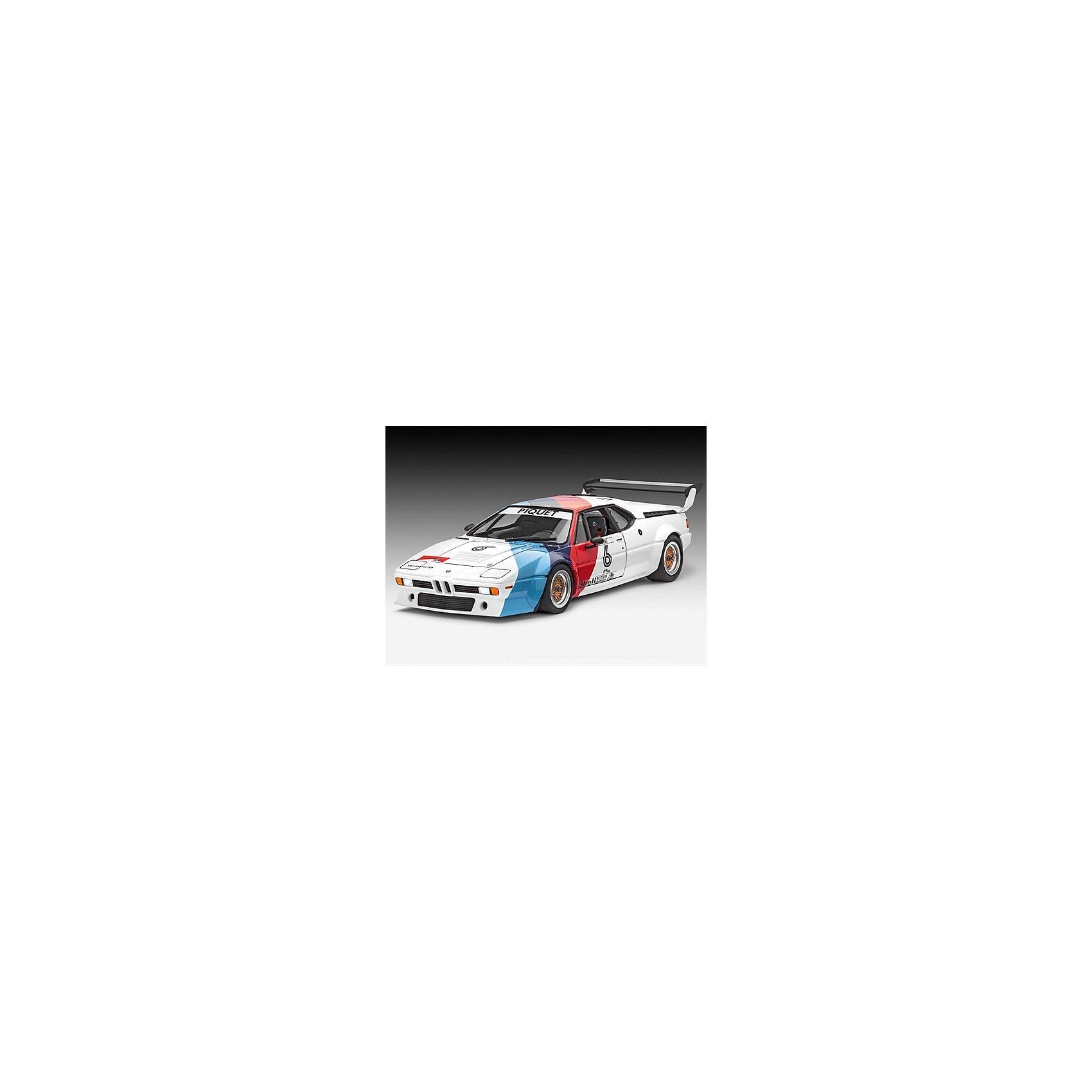 Набор Автомобиль BMW Procar, RevellСборные модели транспорта<br>Гоночная версия автомобиля BMW M1 Procar была выпущена в 1978 году, а уже в 1979 машина принимала участие в европейской Формуле 1 Гран-При. В этих гонках соревновались между собой 20 абсолютно идентичных автомобилей BMW M1. Таким образом, победителя этих уникальных гонок определили его навыки вождения, а не техническая поддержка.  Восхитительная сборная модель BMW M1 Procar является точной уменьшенной копией своего прототипа в масштабе 1:24. Всего модель состоит из 91 отдельного компонента, а длина готового макета составляет 191 мм. В наборе прилагаются клей, краски и кисточка для сборки и покраски модели в соответствии с инструкцией. Подлинный кузов автомобиля, выполненный в мельчайших подробностях, реалистичные шасси, детализированная приборная панель убедят вас в подлинности гоночного автомобиля.  Разработанная для детей от 12 лет, сборная модель, несомненно, порадует и взрослых любителей моделирования и высоких скоростей. Сборка такой модели потребует от моделиста всех его навыков. Её относят к моделированию сложного уровня (№4). Моделирование отлично тренирует мелкую моторику, развивает в ребёнке такие навыки как усидчивость, аккуратность и внимательность. Кроме того, развивается пространственное мышление, логика и креативность.<br><br>Набор Автомобиль BMW Procar, Revell можно купить в нашем магазине.<br><br>Ширина мм: 370<br>Глубина мм: 340<br>Высота мм: 68<br>Вес г: 685<br>Возраст от месяцев: 144<br>Возраст до месяцев: 192<br>Пол: Мужской<br>Возраст: Детский<br>SKU: 4560892