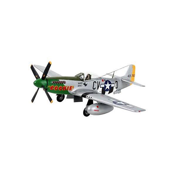 Набор Самолет-истребитель P-51 D Mustang, 2-ая Мировая Война, СШАМодели для склеивания<br>Характеристики товара:<br><br>• возраст: от 10 лет;<br>• масштаб: 1:72;<br>• количество деталей: 34 шт;<br>• материал: пластик; <br>• клей и краски в комплект не входят;<br>• длина модели: 13,7 см;<br>• размах крыльев: 15,1 см;<br>• бренд, страна бренда: Revell (Ревел), Германия;<br>• страна-изготовитель: Польша.<br><br>Набор для сборки «Самолет-истребитель P-51 D Mustang» поможет вам и вашему ребенку придумать увлекательное занятие на долгое время и весело провести свой досуг. <br><br>Данная сборная модель военного самолета состоит из 63 деталей и относится к третьему уровню сложности сборки из пяти существующих. В комплект набора также включены необходимые для осуществления сборки клей, кисточка и краски 3-ех цветов. В упаковку вложена подробная инструкция.<br><br>Процесс сборки развивает интеллектуальные и инструментальные способности, воображение и конструктивное мышление, а также прививает практические навыки работы со схемами и чертежами.<br><br>Набор для сборки «Самолет-истребитель P-51 D Mustang», 34 дет., Revell (Ревел) можно купить в нашем интернет-магазине.<br><br>Ширина мм: 270<br>Глубина мм: 230<br>Высота мм: 33<br>Вес г: 190<br>Возраст от месяцев: 120<br>Возраст до месяцев: 180<br>Пол: Мужской<br>Возраст: Детский<br>SKU: 4560893