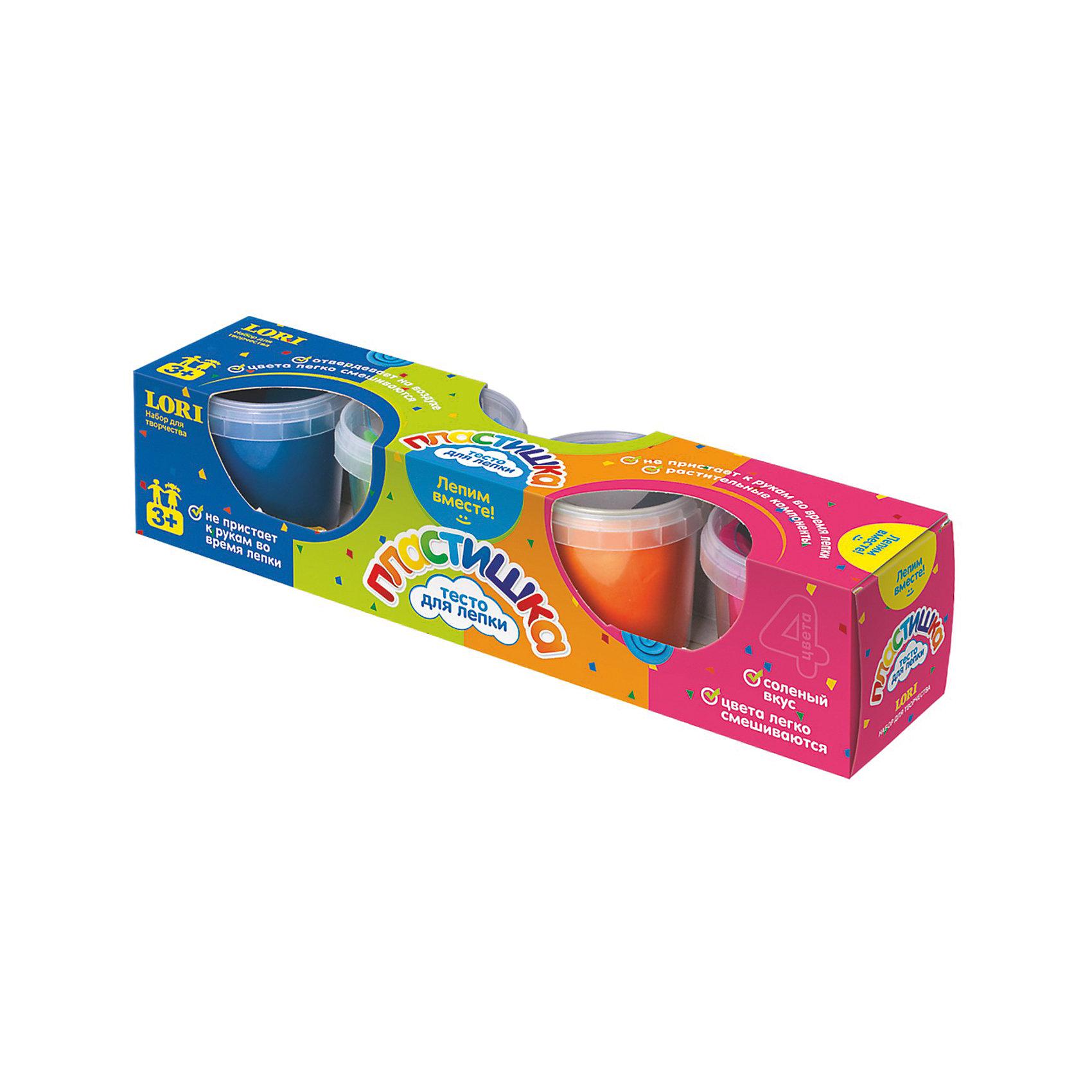 Тесто для лепки Пластишка, 4цв.Лепка из соленого теста различных цветов - одно из самых  увлекательных и полезных занятий для ребенка, она помогает развить моторику, мышление, фантазию и воображение детей любого возраста. Свойство теста затвердевать позволяет использовать готовые фигурки в играх. Тесто содержит только растительные компоненты, безопасные для детей, не пристает к рукам во время лепки.  Цвета легко смешиваются позволяя создавать нужные оттенки. <br><br>Дополнительная информация:<br><br>- Материал: тесто для лепки. <br>- Размер упаковки: 30х7х7 см. <br>- 4 цвета по 100 гр. (розовый, оранжевый, светло-зеленый, синий).<br>- Изготовлено на основе растительных компонентов.<br>- Цвета легко смешиваются.<br>- Твердеет на воздухе.<br>- Не липнет в рукам.<br><br>Тесто для лепки Пластишка, 4 цв. можно купить в нашем магазине.<br><br>Ширина мм: 330<br>Глубина мм: 215<br>Высота мм: 230<br>Вес г: 484<br>Возраст от месяцев: 36<br>Возраст до месяцев: 2147483647<br>Пол: Унисекс<br>Возраст: Детский<br>SKU: 4561154