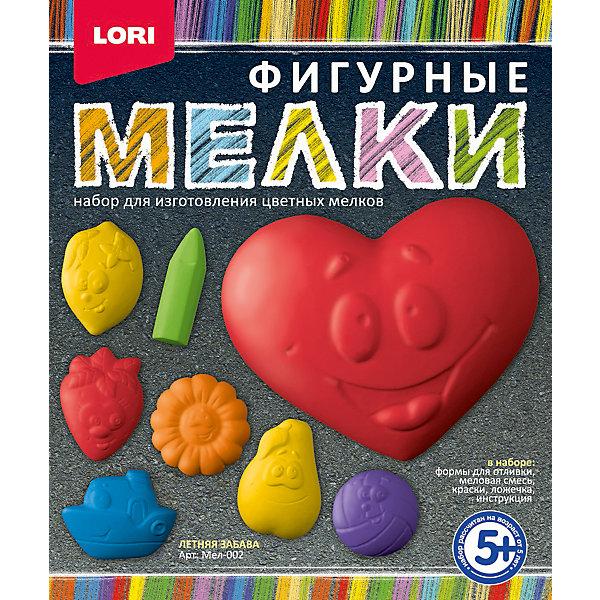 Мелки фигурные Летняя забаваМелки для асфальта<br>Рисование мелками - это не просто увлекательное занятие, но и самое настоящее творчество! Этот набор дает возможность самостоятельно изготовить цветные мелки, чтобы потом оставлять на асфальте яркие краски хорошего настроения!<br><br>Дополнительная информация:<br><br>- Материал: мел, краски, пластик, бумага. <br>- Размер: 18х22х5 см. <br>- Комплектация: формы для отливки, сухая меловая смесь, акварельные краски в баночках, ложечка, подробная инструкция.<br><br>Мелки фигурные Летняя забава можно купить в нашем магазине.<br>Ширина мм: 385; Глубина мм: 265; Высота мм: 230; Вес г: 511; Возраст от месяцев: 60; Возраст до месяцев: 2147483647; Пол: Унисекс; Возраст: Детский; SKU: 4561161;