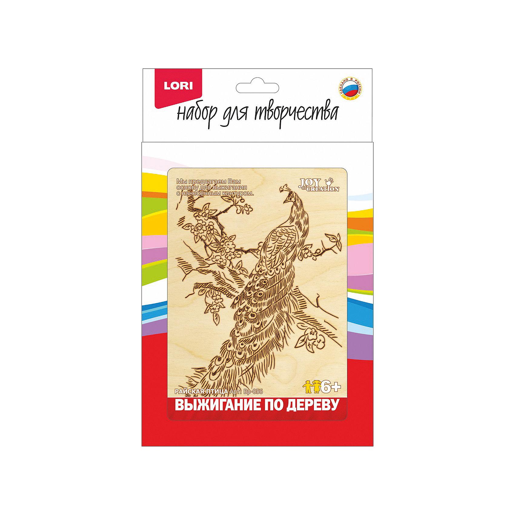 LORI Выжигание в рамке Райская птица lori набор для рукоделия дерево счастья сакура