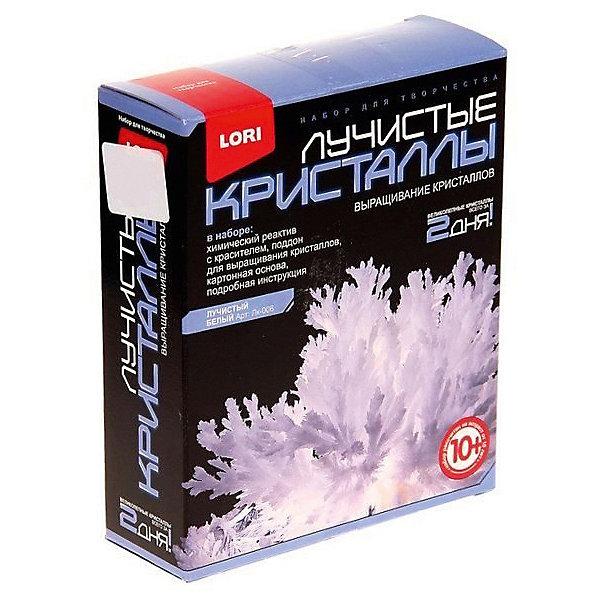 Лучистые кристаллы Белый кристаллВыращивание кристаллов<br>Выращивание кристаллов - самый массовый и самый популярный вид химических опытов для детей. С помощью этого набора можно вырастить крупные кристаллы белого цвета. Суть выращивания - в наблюдении кристаллизации вещества из насыщенного соляного раствора. Позвольте вашему юному ученому сделать свои первые шаги в изучении интереснейшей науки - химии!<br><br>Дополнительная информация:<br><br>- Материал: пластик, картон, реагент.<br>- Размер упаковки: 11,5 х 4 х 13,5 см. <br>- Комплектация:   химический реагент с красителем, поддон, картонная основа, инструкция.<br><br>Лучистые кристаллы Белый кристалл можно купить в нашем магазине.<br><br>Ширина мм: 370<br>Глубина мм: 250<br>Высота мм: 155<br>Вес г: 90<br>Возраст от месяцев: 120<br>Возраст до месяцев: 2147483647<br>Пол: Унисекс<br>Возраст: Детский<br>SKU: 4561199