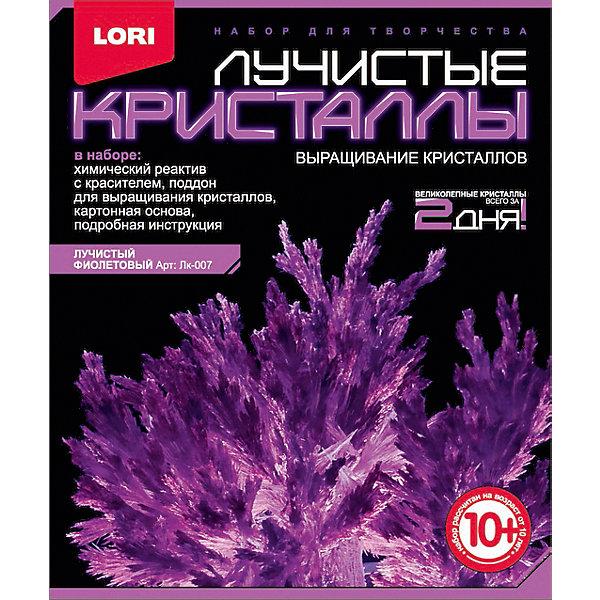 Лучистые кристаллы Фиолетовый кристаллВыращивание кристаллов<br>Выращивание кристаллов - самый массовый и самый популярный вид химических опытов для детей. С помощью этого набора можно вырастить крупные кристаллы фиолетового цвета. Суть выращивания - в наблюдении кристаллизации вещества из насыщенного соляного раствора. Позвольте вашему юному ученому сделать свои первые шаги в изучении интереснейшей науки - химии!<br><br>Дополнительная информация:<br><br>- Материал: пластик, картон, реагент.<br>- Размер упаковки: 11,5 х 4 х 13,5 см. <br>- Комплектация:   химический реагент с красителем, поддон, картонная основа, инструкция.<br><br>Лучистые кристаллы Фиолетовый кристалл можно купить в нашем магазине.<br><br>Ширина мм: 370<br>Глубина мм: 250<br>Высота мм: 155<br>Вес г: 90<br>Возраст от месяцев: 120<br>Возраст до месяцев: 2147483647<br>Пол: Унисекс<br>Возраст: Детский<br>SKU: 4561200