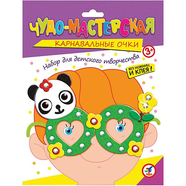 Праздничные очки ПандаБумага<br>Увлекательный набор для творчества Панда не только развлечет ребенка но и поможет изготовить своими руками яркий аксессуар для праздника или карнавала. В наборе Вы найдете все необходимое: пластиковые очки, детали из мягкого пластика ЭВА и стразы для украшения.<br>Ножницы и клей не требуются. Нанесите на оправу очков двустороннюю клейкую ленту, а затем найдите самую крупную деталь из мягкого пластика в форме очков и приклейте ее к оправе. Украсьте очки различными самоклеющимися деталями и стразами согласно образцу или по своему усмотрению. Забавные очки с фигуркой панды создадут праздничное настроение и позволят легко перевоплотиться в персонажа веселого карнавала.<br><br>Дополнительная информация:<br><br>- В комплекте: пластмассовые очки, детали из мягкого пластика ЭВА, стразы, двусторонняя клейка лента.<br>- Материал: пластмасса, мягкий пластик ЭВА, картон.<br>- Размер упаковки: 20 x 15 x 1,5 см.<br>- Вес: 28 гр.<br><br>Праздничные очки Панда, Дрофа Медиа, можно купить в нашем интернет-магазине.<br>Ширина мм: 155; Глубина мм: 200; Высота мм: 15; Вес г: 85; Возраст от месяцев: 36; Возраст до месяцев: 2147483647; Пол: Унисекс; Возраст: Детский; SKU: 4561868;