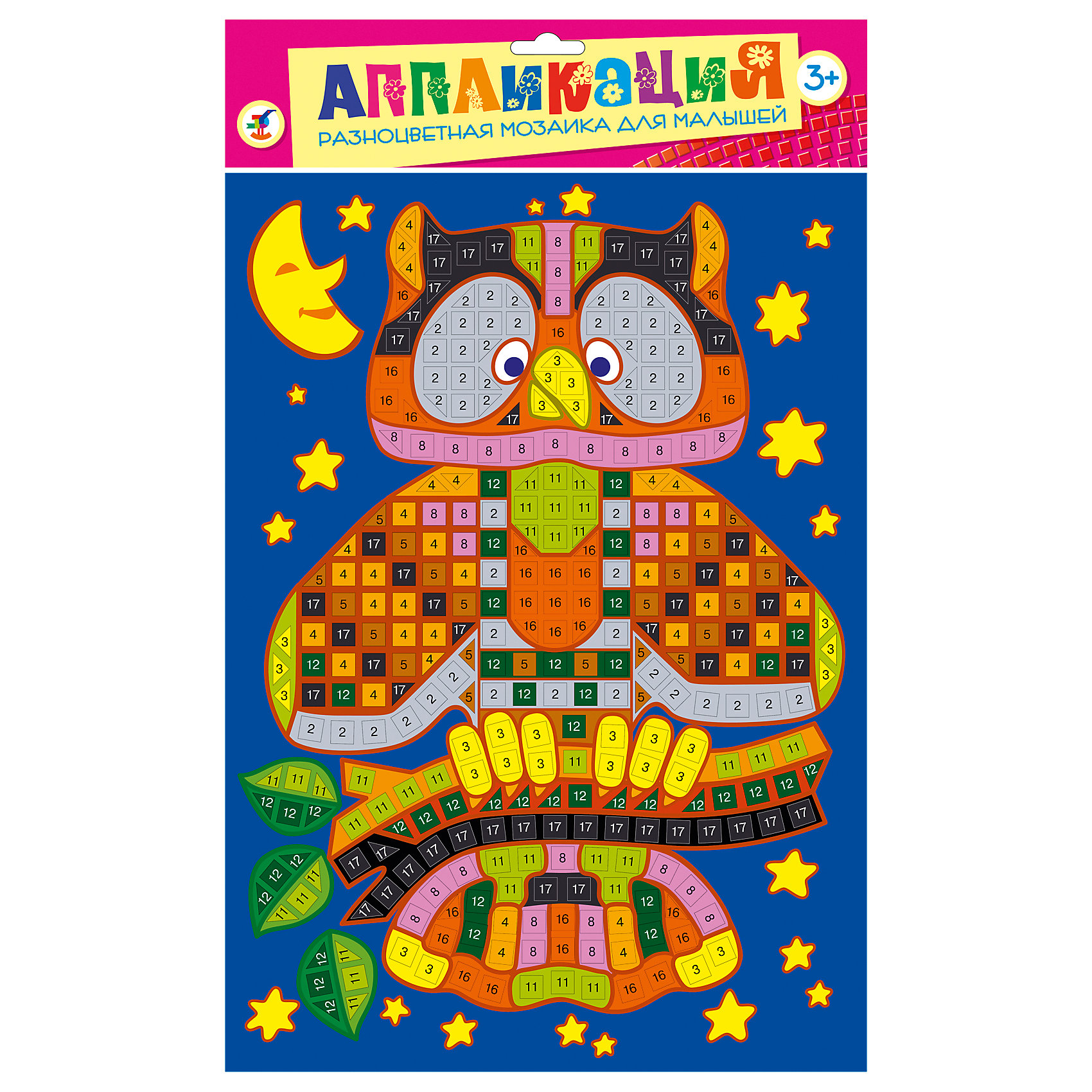 Дрофа-Медиа Разноцветная мозаика Сова разноцветная мозаика спорткар 2785