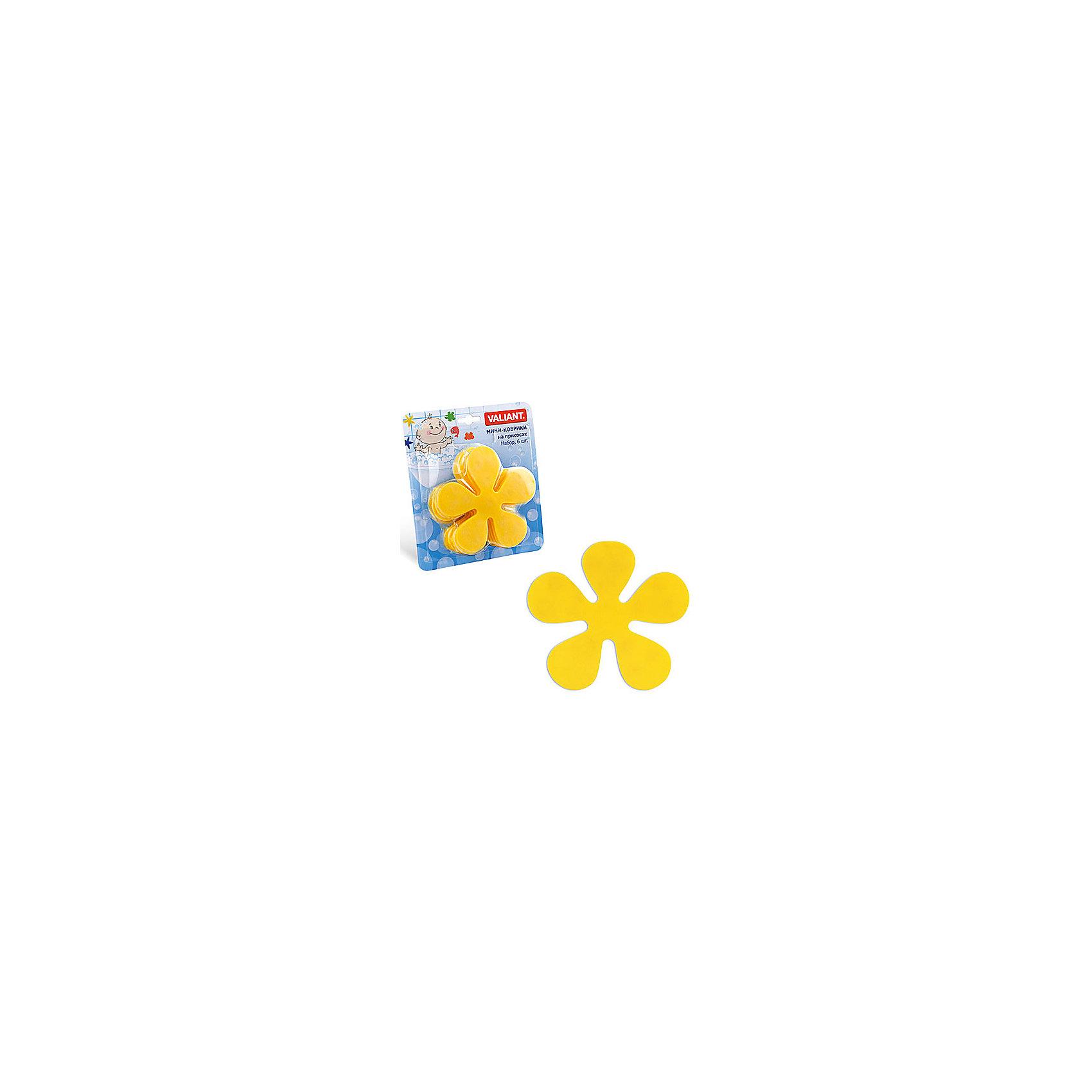 Набор ковриков Цветок на присосках (6 шт)Ванная комната<br>Мини-коврики для ванной комнаты - это яркое дополнение к купанию малыша. Это и игра и развитие моторики и изучение зверушек. <br>Колоссальный и постоянно растущий спрос на них обусловлен реакцией малышей и их мам на данное изобретение по всему миру.<br>Мини-коврики снабжены присосками и превосходно клеятся на влажный кафель.<br><br>Ширина мм: 190<br>Глубина мм: 170<br>Высота мм: 40<br>Вес г: 150<br>Возраст от месяцев: -2147483648<br>Возраст до месяцев: 2147483647<br>Пол: Унисекс<br>Возраст: Детский<br>SKU: 4563297