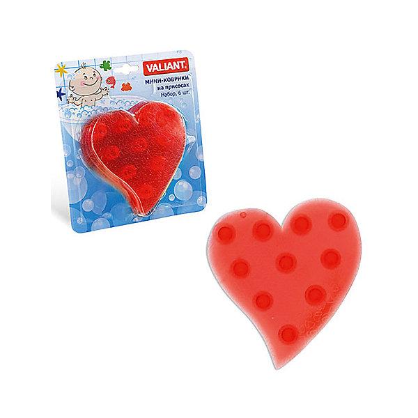 Набор ковриков Сердце на присосках (6 шт)Товары для купания<br>Мини-коврики для ванной комнаты - это яркое дополнение к купанию малыша. Это и игра и развитие моторики и изучение зверушек. <br>Колоссальный и постоянно растущий спрос на них обусловлен реакцией малышей и их мам на данное изобретение по всему миру.<br>Мини-коврики снабжены присосками и превосходно клеятся на влажный кафель.<br><br>Ширина мм: 190<br>Глубина мм: 170<br>Высота мм: 40<br>Вес г: 150<br>Возраст от месяцев: -2147483648<br>Возраст до месяцев: 2147483647<br>Пол: Унисекс<br>Возраст: Детский<br>SKU: 4563299