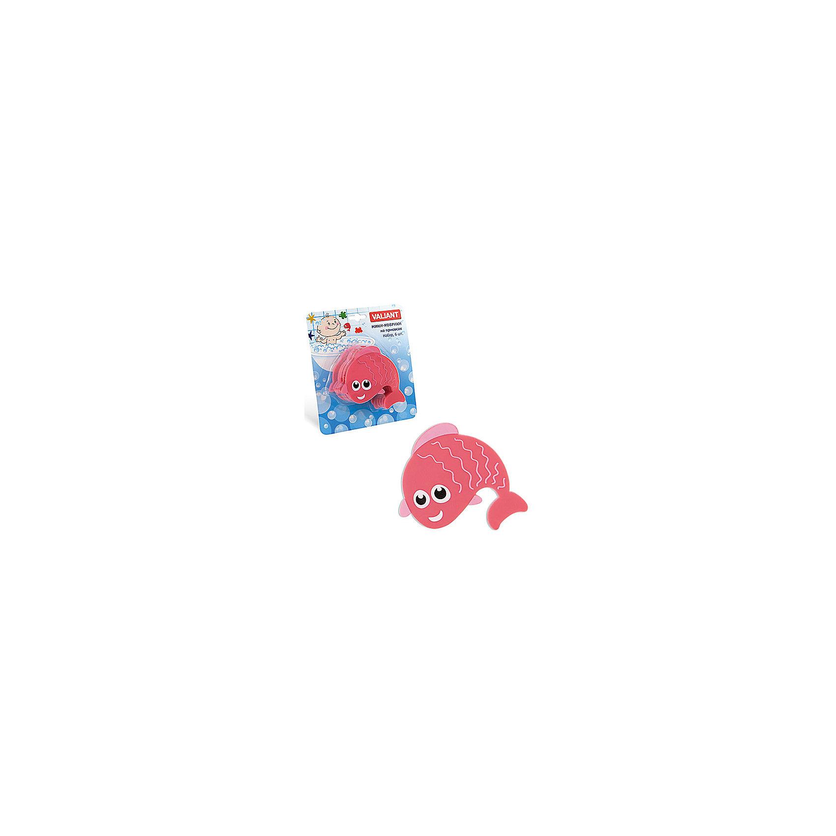 Набор ковриков Рыбешка на присосках (6 шт)Мини-коврики для ванной комнаты - это яркое дополнение к купанию малыша. Это и игра и развитие моторики и изучение зверушек. <br>Колоссальный и постоянно растущий спрос на них обусловлен реакцией малышей и их мам на данное изобретение по всему миру.<br>Мини-коврики снабжены присосками и превосходно клеятся на влажный кафель.<br><br>Ширина мм: 100<br>Глубина мм: 100<br>Высота мм: 50<br>Вес г: 188<br>Возраст от месяцев: -2147483648<br>Возраст до месяцев: 2147483647<br>Пол: Унисекс<br>Возраст: Детский<br>SKU: 4563310