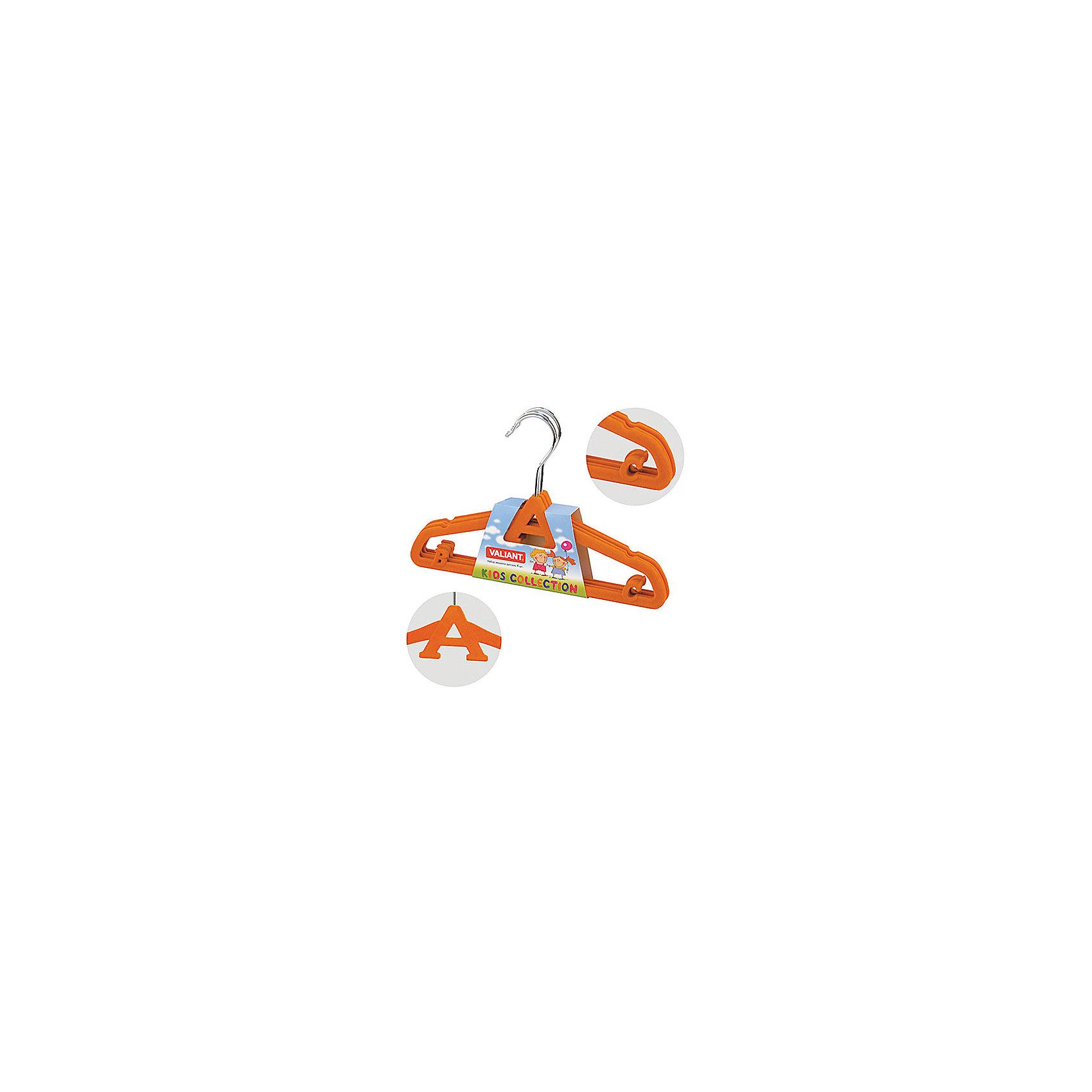 VALIANT Бархатные вешалки ABC (оранжевый), 4 шт комлев н самоучитель игры на паскале abc и немного турбо