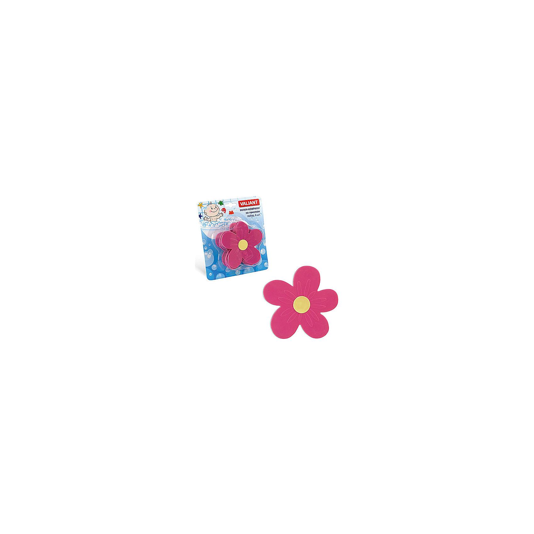 Набор ковриков Цветок на присосках (6 шт)Мини-коврики для ванной комнаты - это яркое дополнение к купанию малыша. Это и игра и развитие моторики и изучение зверушек. <br>Колоссальный и постоянно растущий спрос на них обусловлен реакцией малышей и их мам на данное изобретение по всему миру.<br>Мини-коврики снабжены присосками и превосходно клеятся на влажный кафель.<br><br>Ширина мм: 110<br>Глубина мм: 110<br>Высота мм: 50<br>Вес г: 188<br>Возраст от месяцев: -2147483648<br>Возраст до месяцев: 2147483647<br>Пол: Унисекс<br>Возраст: Детский<br>SKU: 4563316